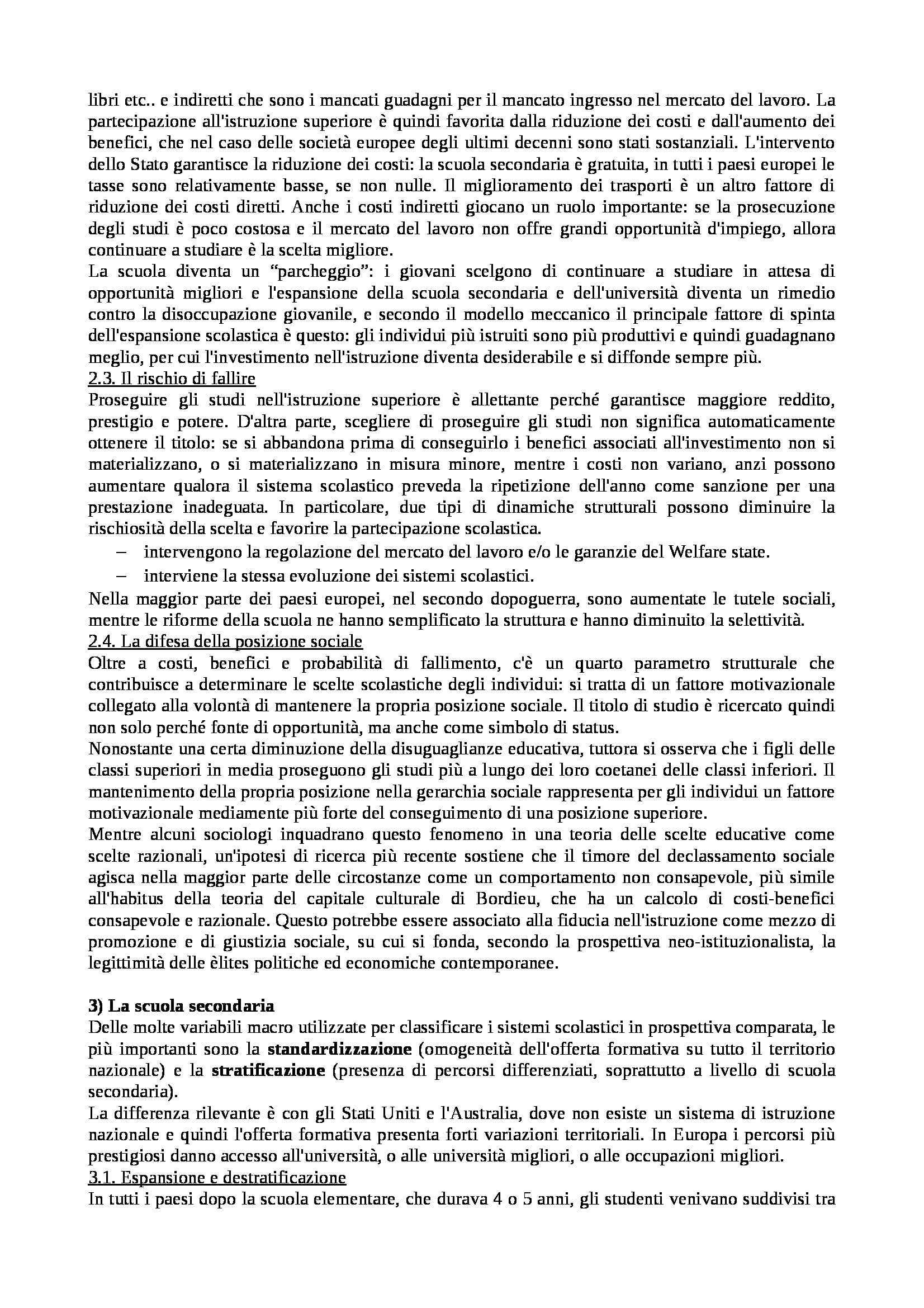 Riassunto esame Istituzioni di Sociologia, libro adottato Processi e Trasformazioni Sociali, Sciolla Pag. 16