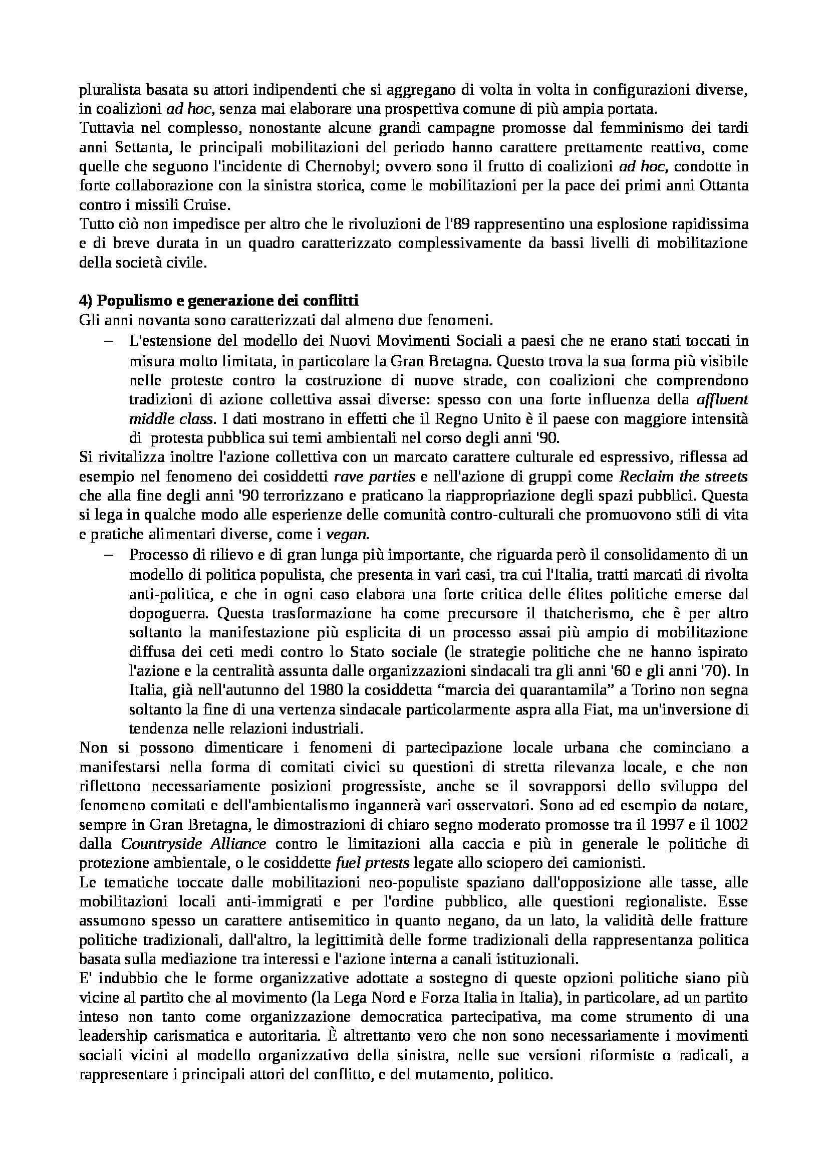 Riassunto esame Istituzioni di Sociologia, libro adottato Processi e Trasformazioni Sociali, Sciolla Pag. 21