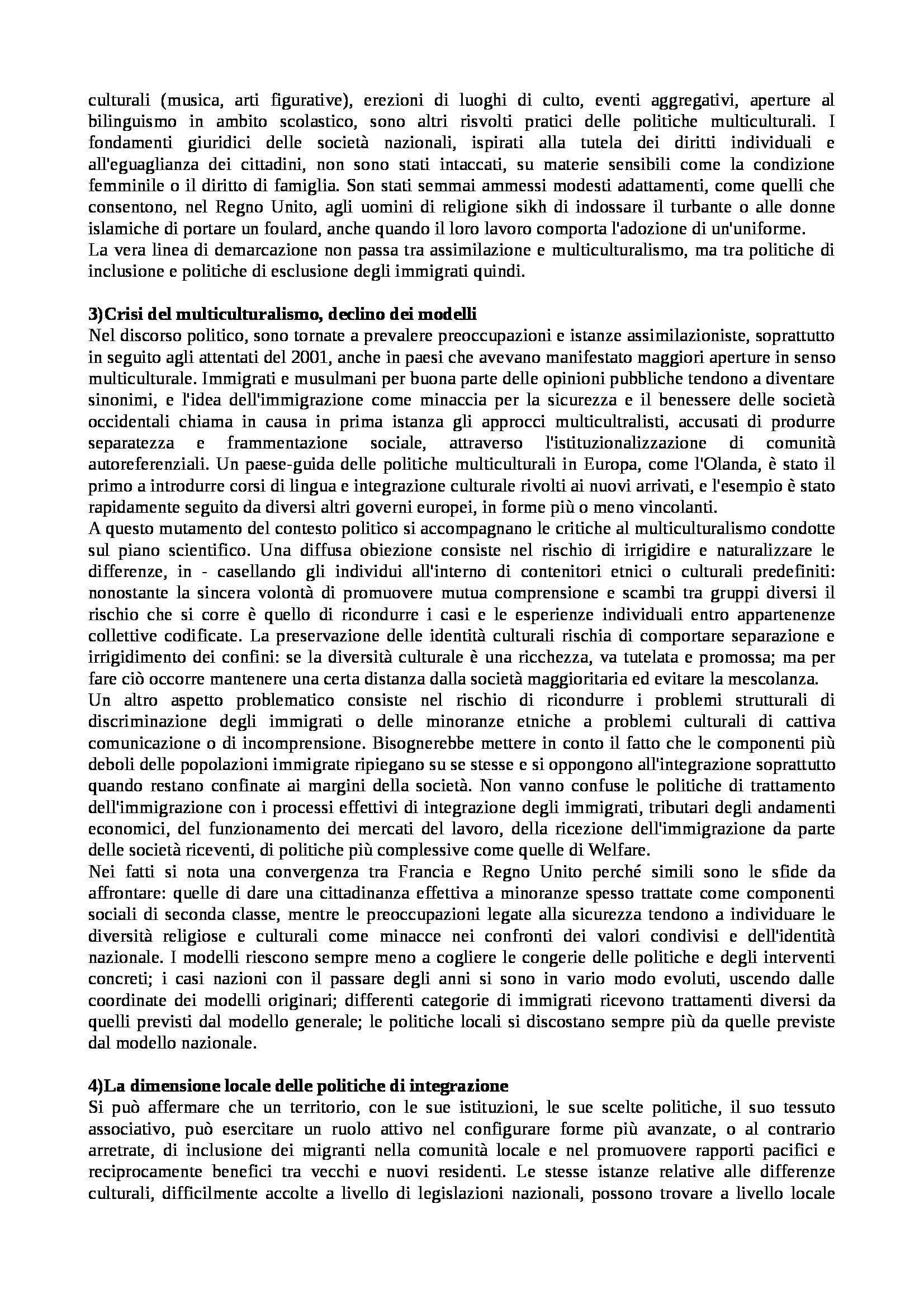 Riassunto esame Istituzioni di Sociologia, libro adottato Processi e Trasformazioni Sociali, Sciolla Pag. 31