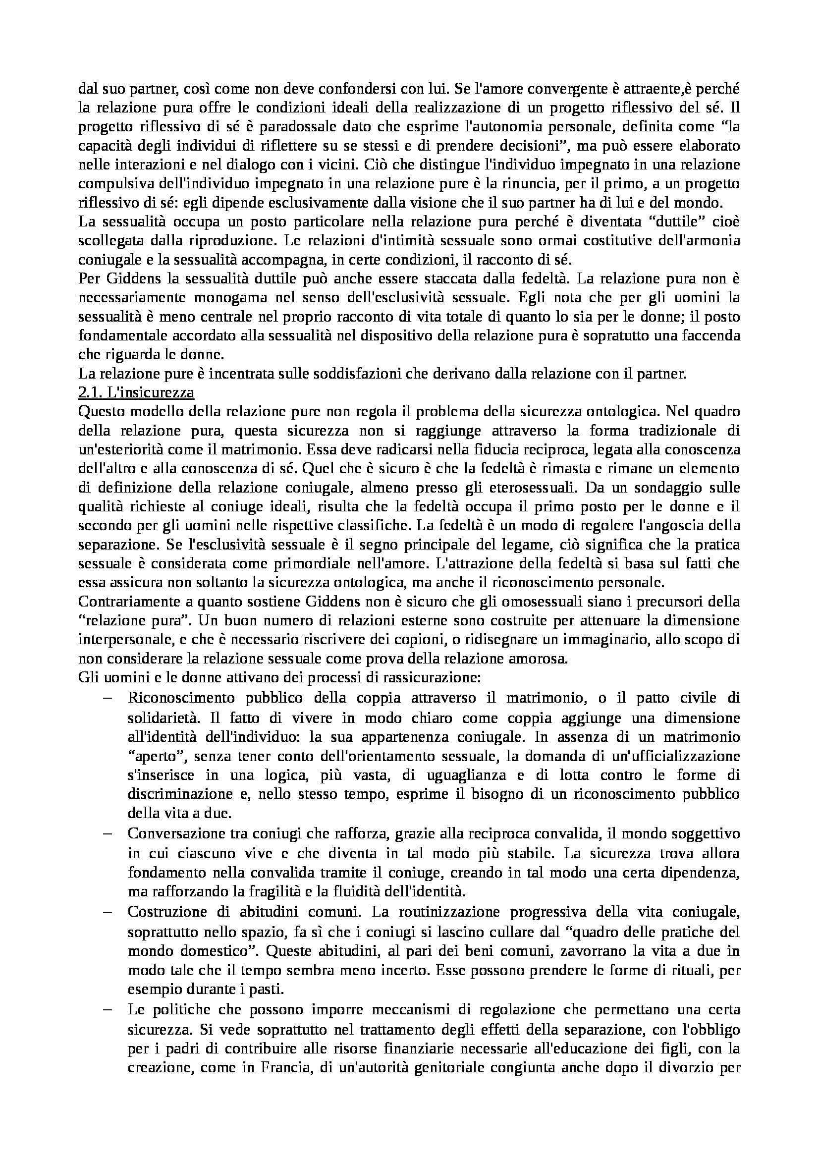 Riassunto esame Istituzioni di Sociologia, libro adottato Processi e Trasformazioni Sociali, Sciolla Pag. 41