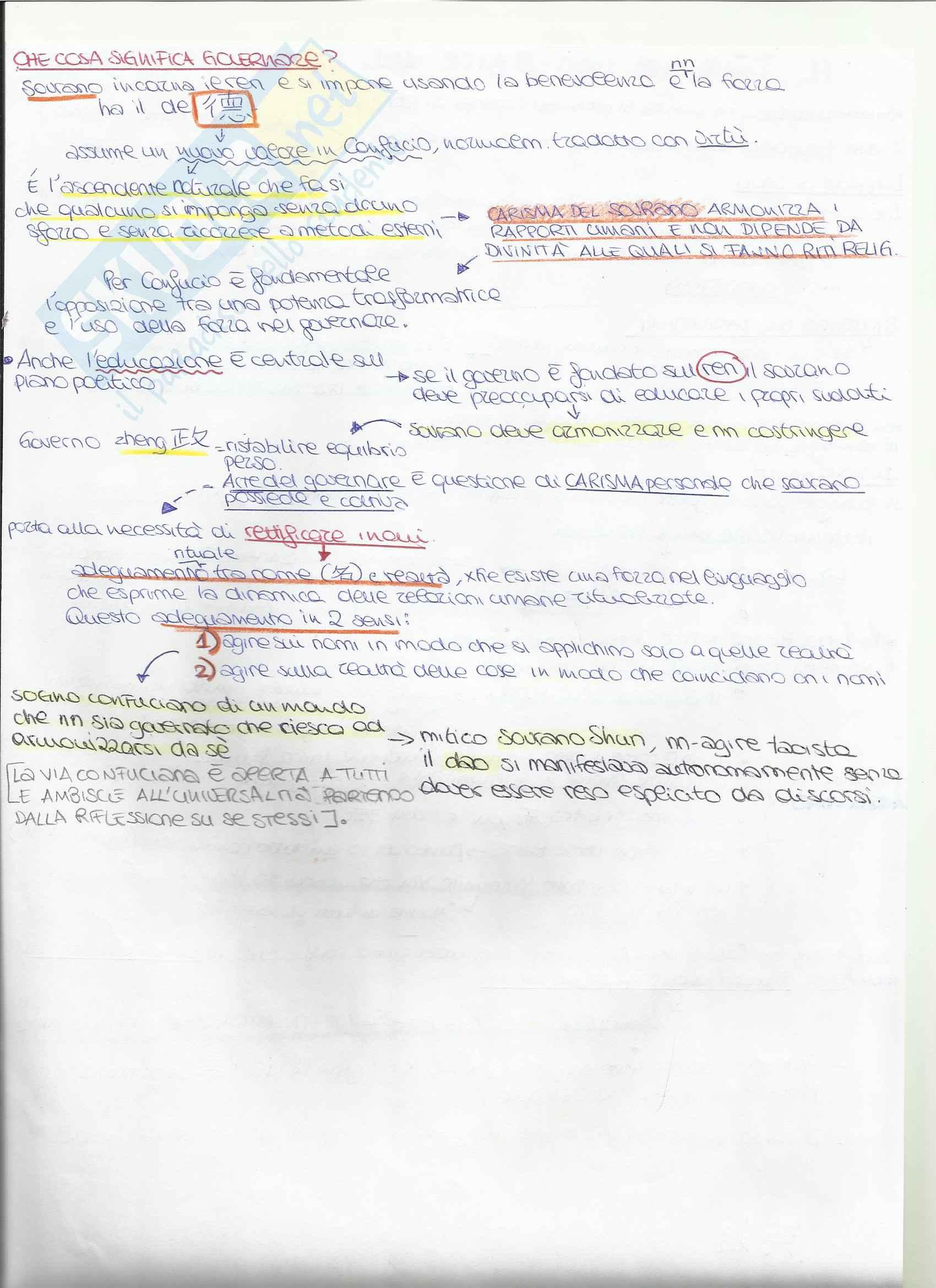 Appunti Filosofia e Storia del Pensiero Cinese Confucianesimo Pag. 6