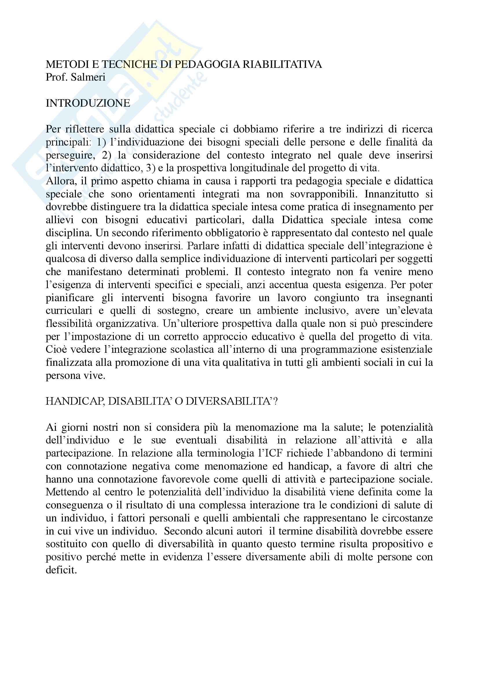 appunto S. Salmeri Pedagogia