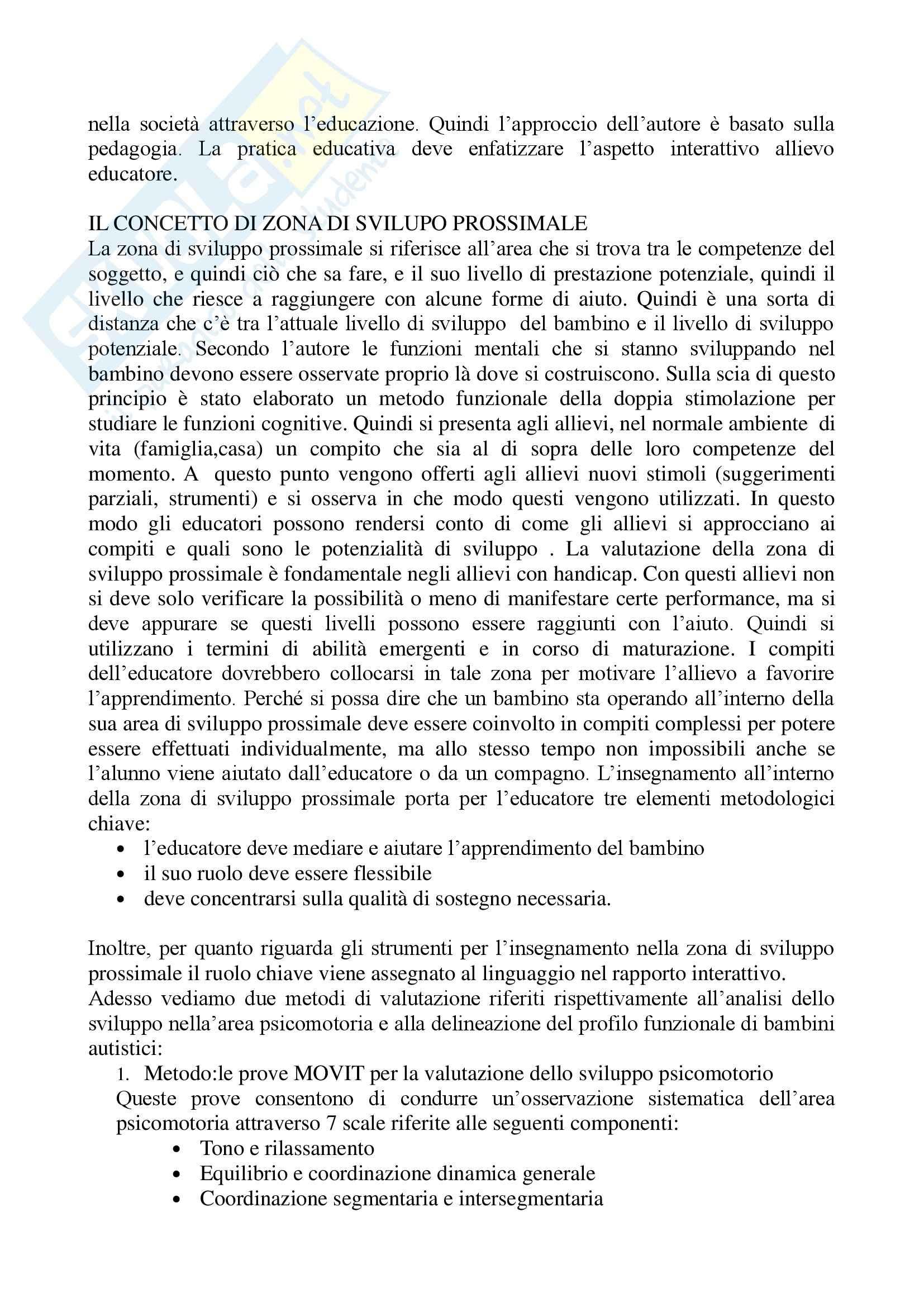 Pedagogia - metodi e tecniche di pedagogia riabilitativa - Riassunto esame, prof. Salmeri Pag. 6