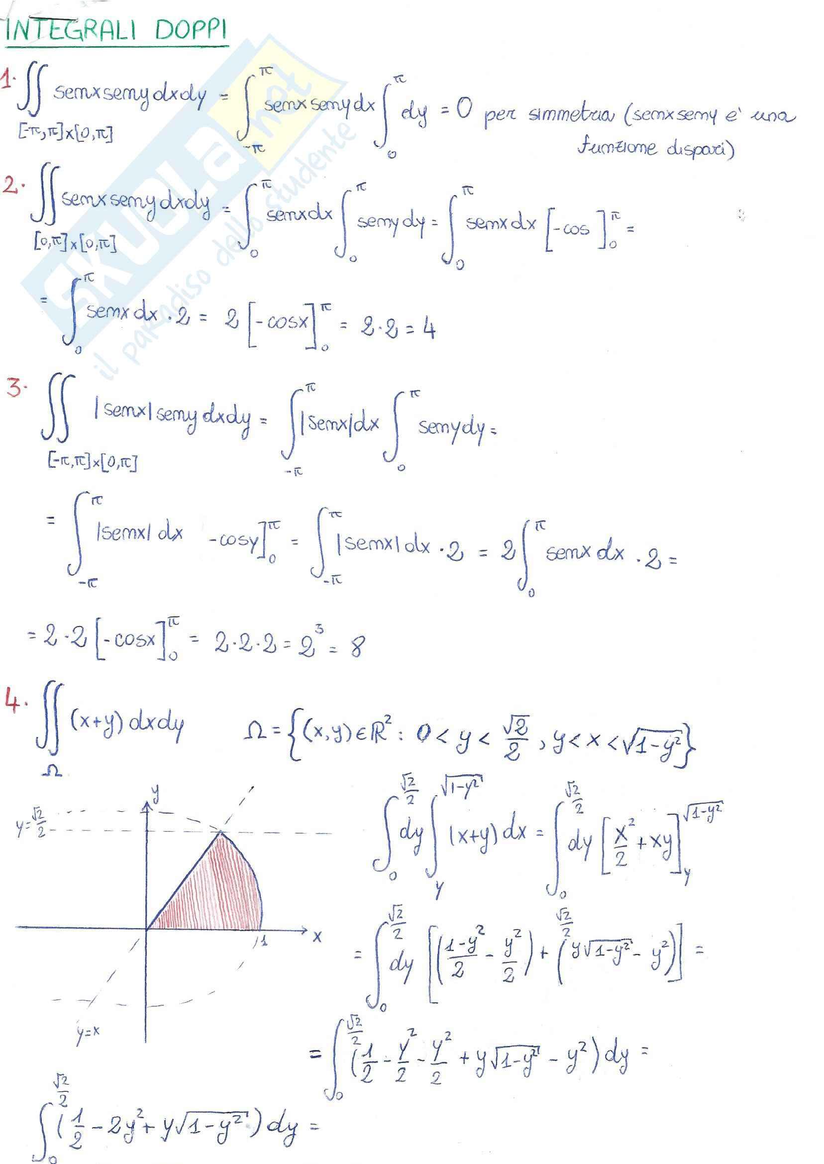 Integrali doppi e tripli - analisi