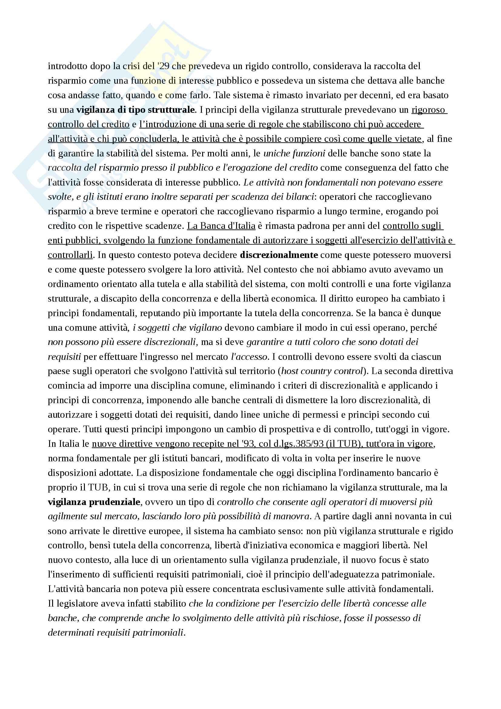 Appunti Legislazione Bancaria e Finanziaria Pag. 11