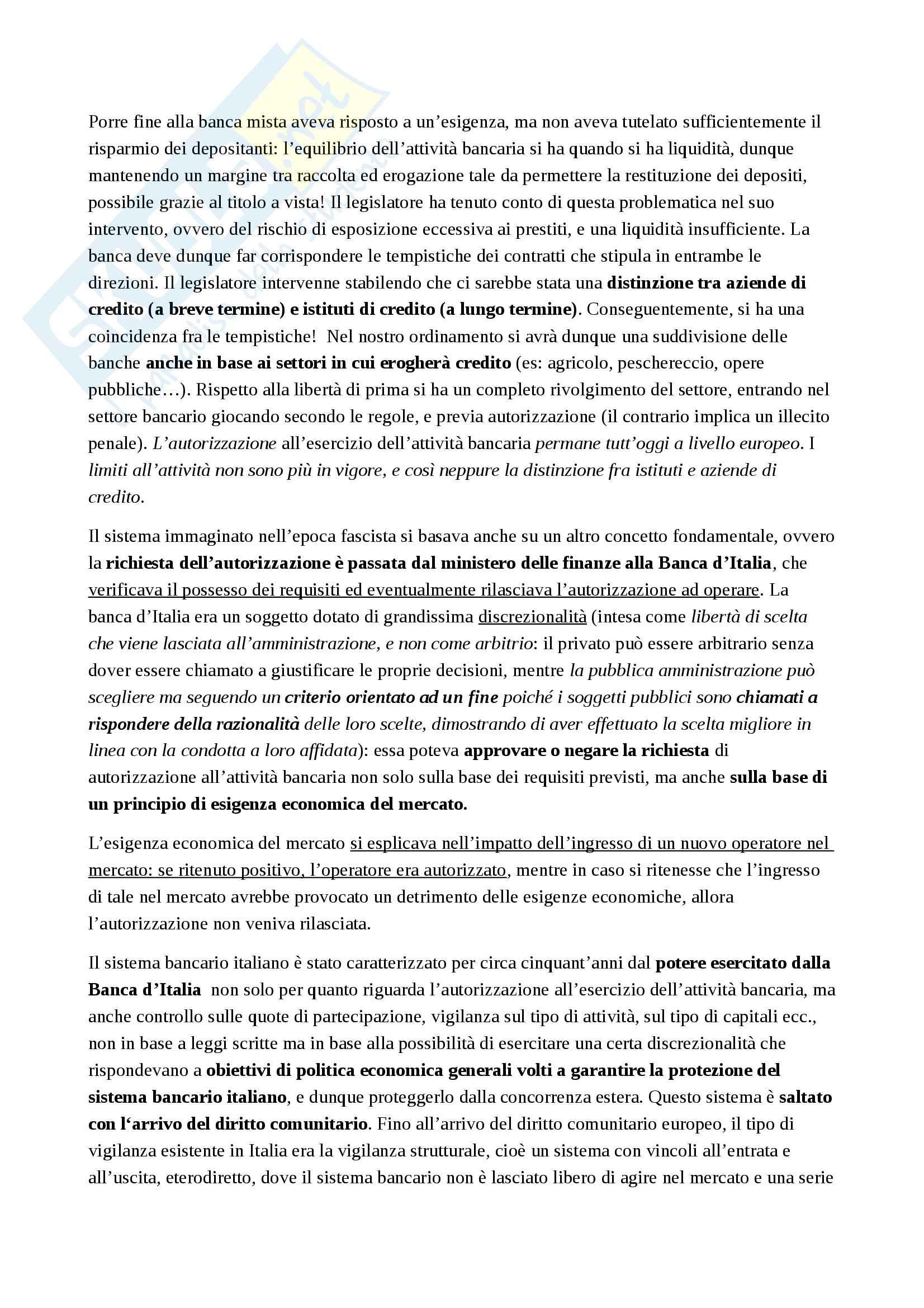Appunti Legislazione Bancaria e Finanziaria Pag. 16