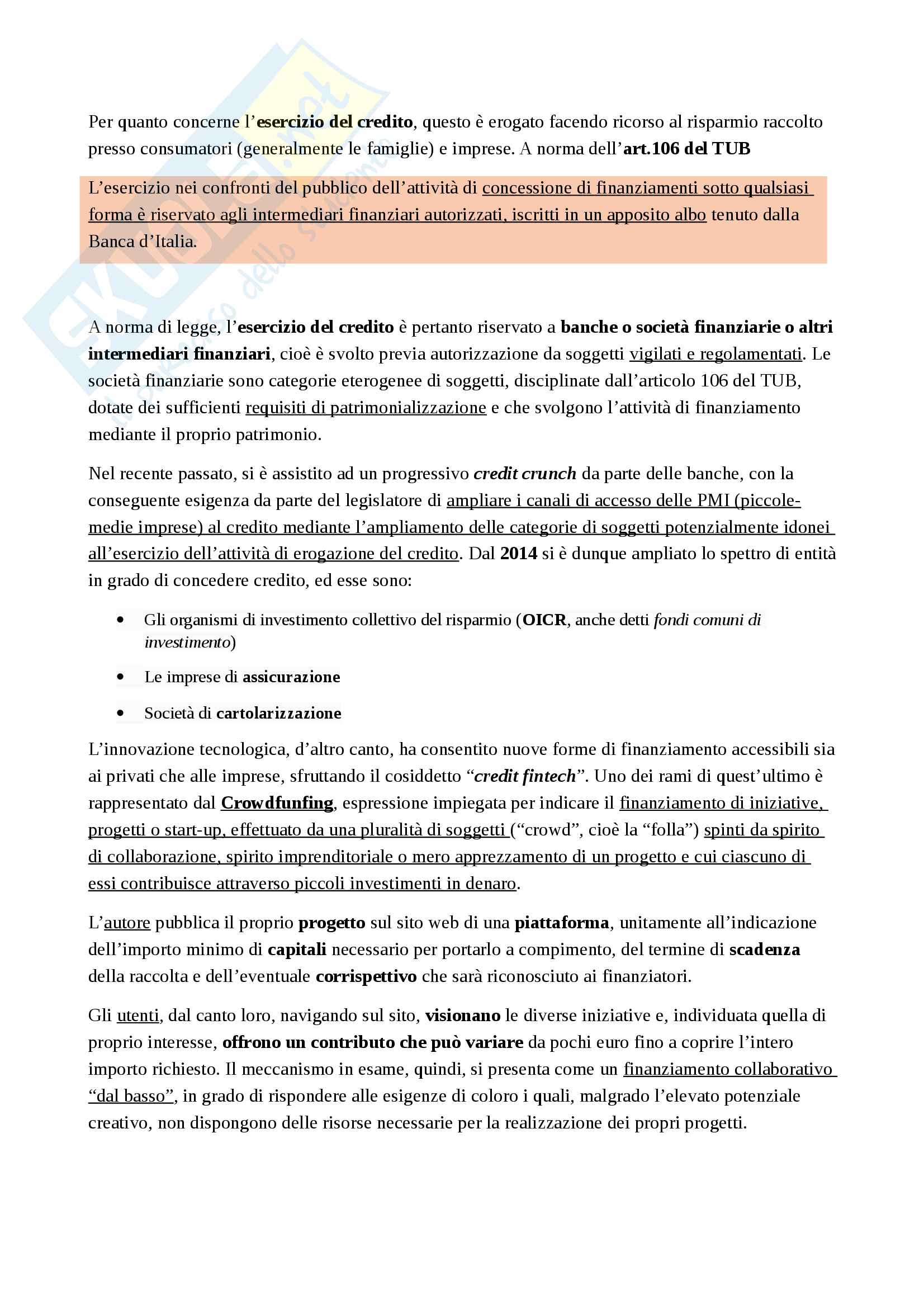 Appunti Legislazione Bancaria e Finanziaria Pag. 36