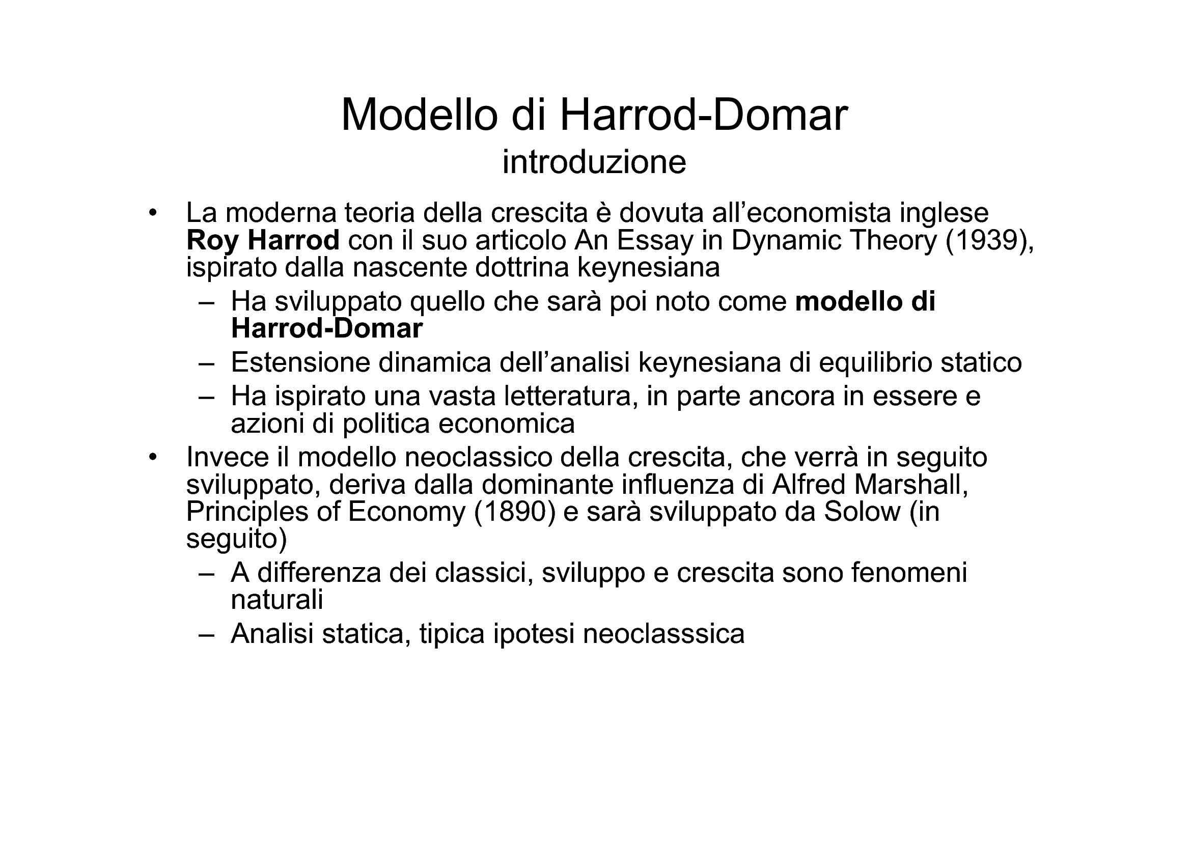 Modello Harrod-Domar