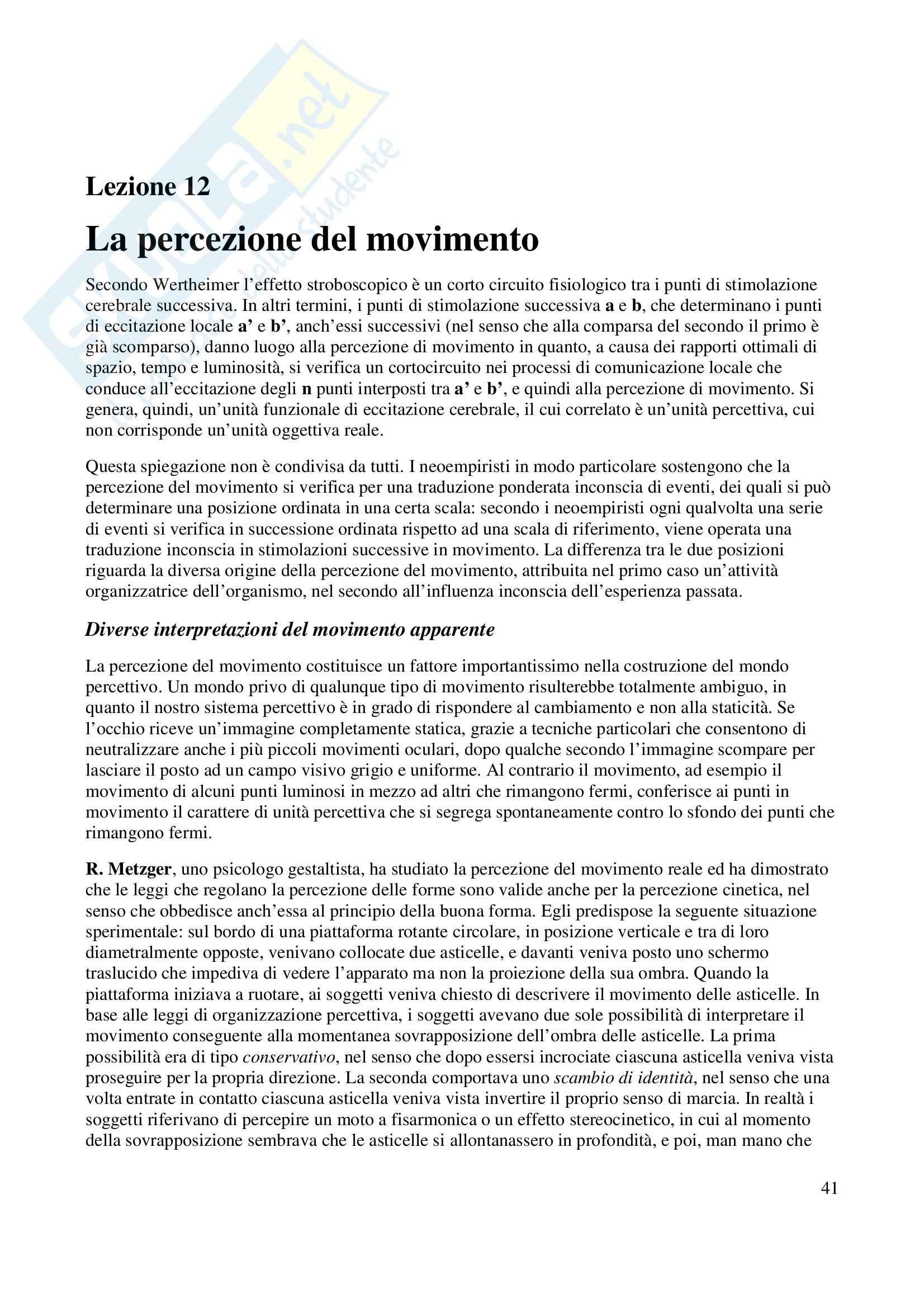 Fondamenti di Psicologia Generale Pag. 41