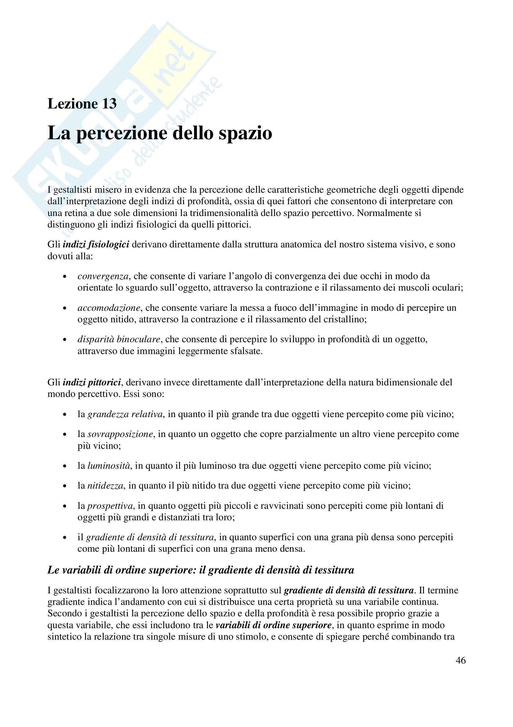 Fondamenti di Psicologia Generale Pag. 46