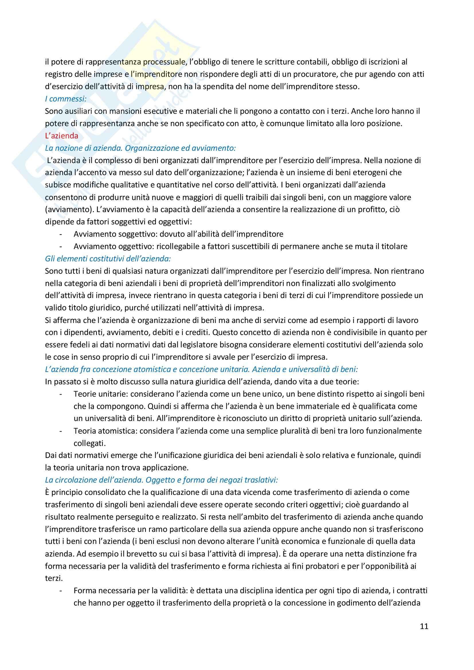 Riassunto esame Diritto Commerciale, prof. Bocchiola Pag. 11