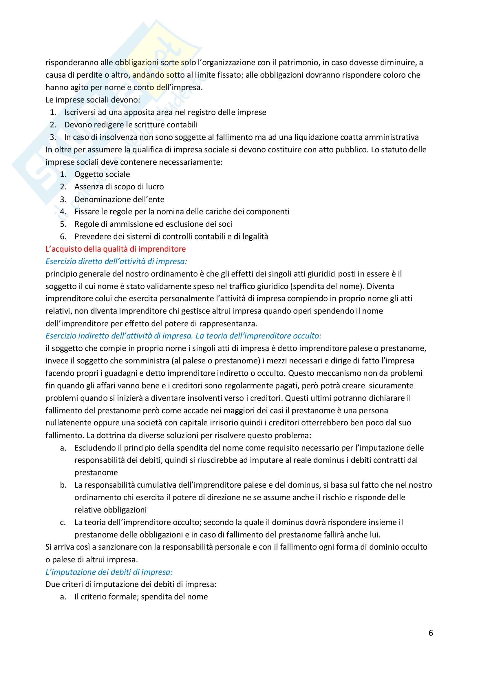 Riassunto esame Diritto Commerciale, prof. Bocchiola Pag. 6