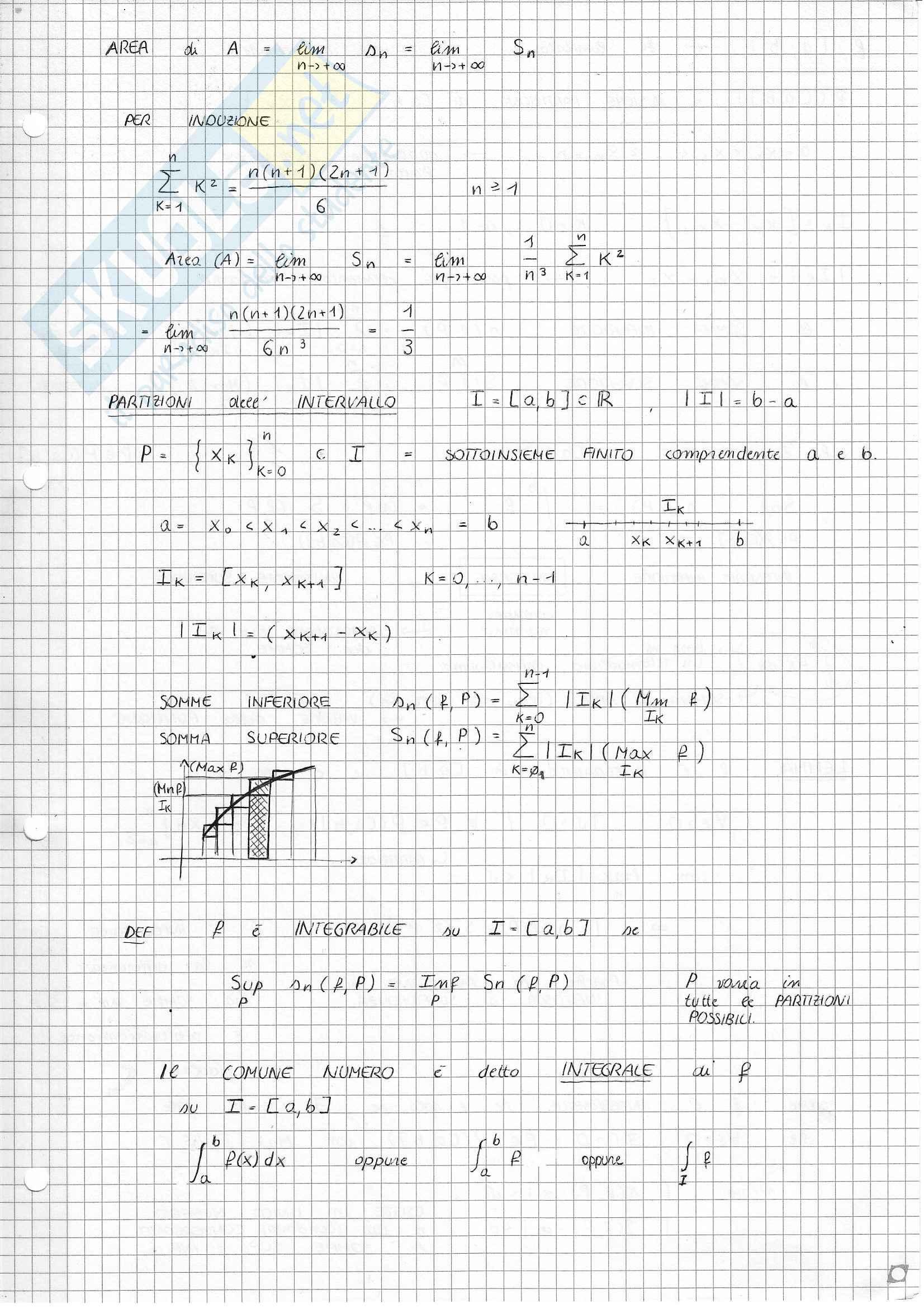 Analisi e Geometria 1 - Calcolo integrale Pag. 2