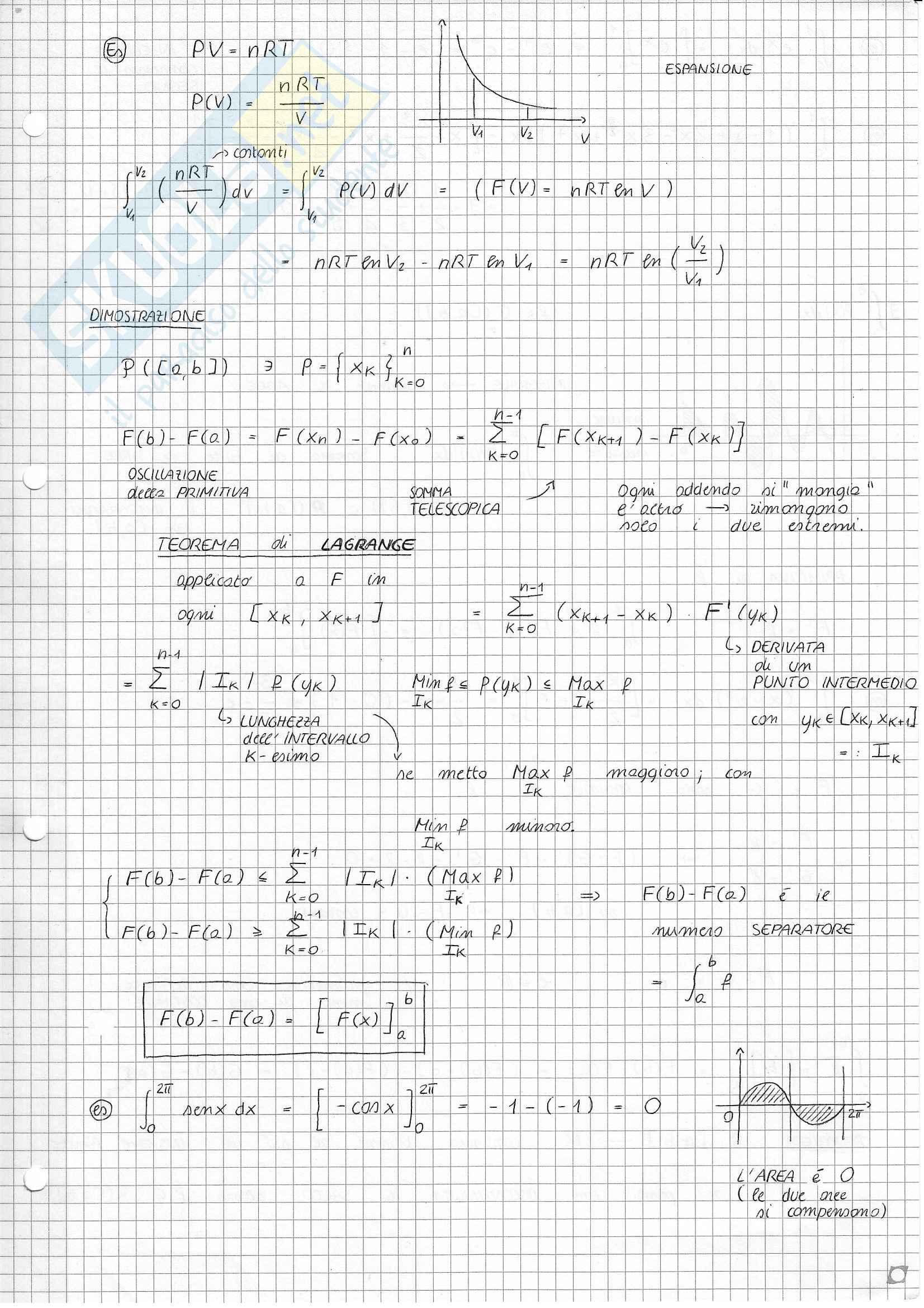 Analisi e Geometria 1 - Calcolo integrale Pag. 6