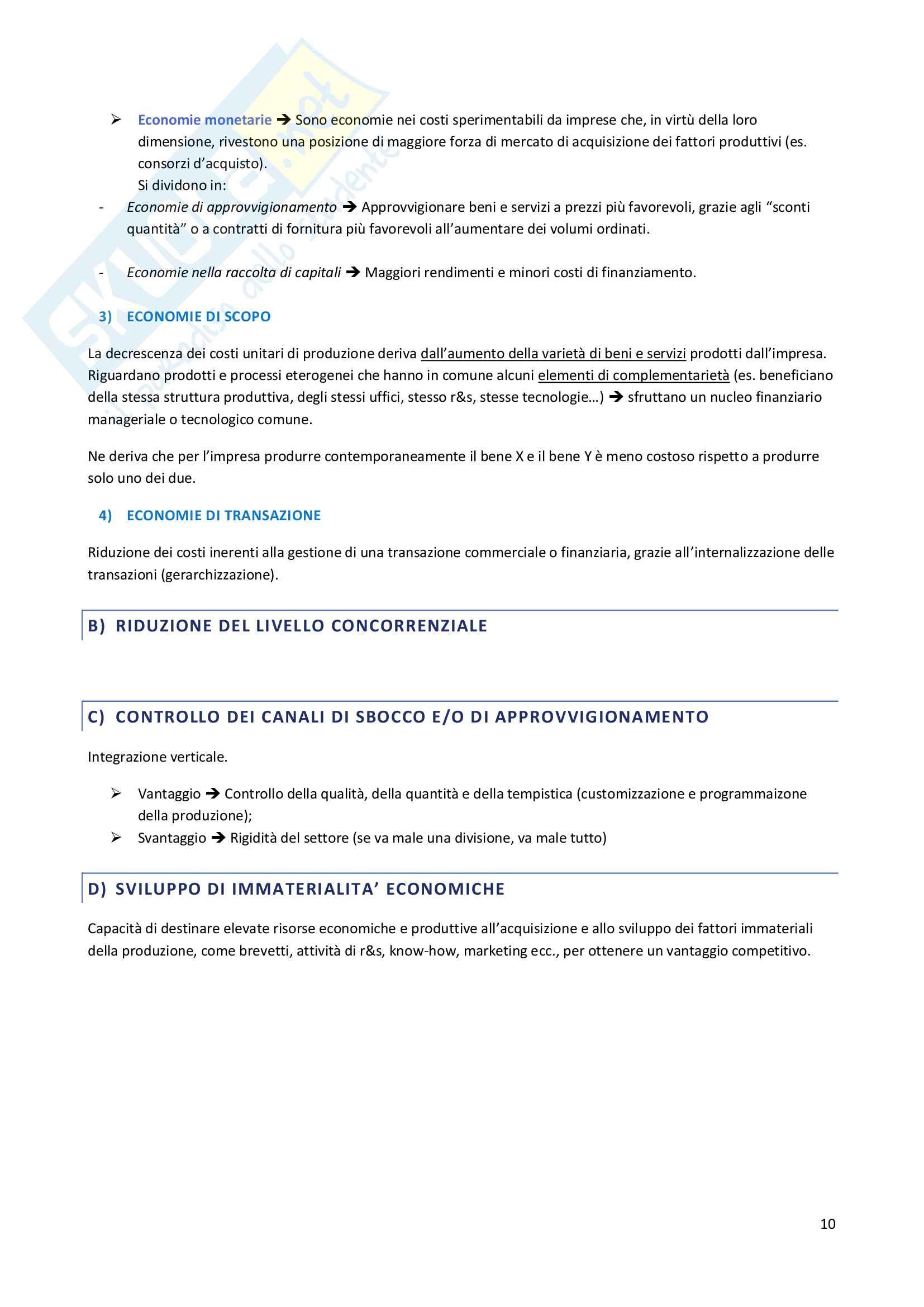 Riassunto esame Economia dei gruppi e delle Concentrazioni Aziendali, prof. Celli Pag. 11