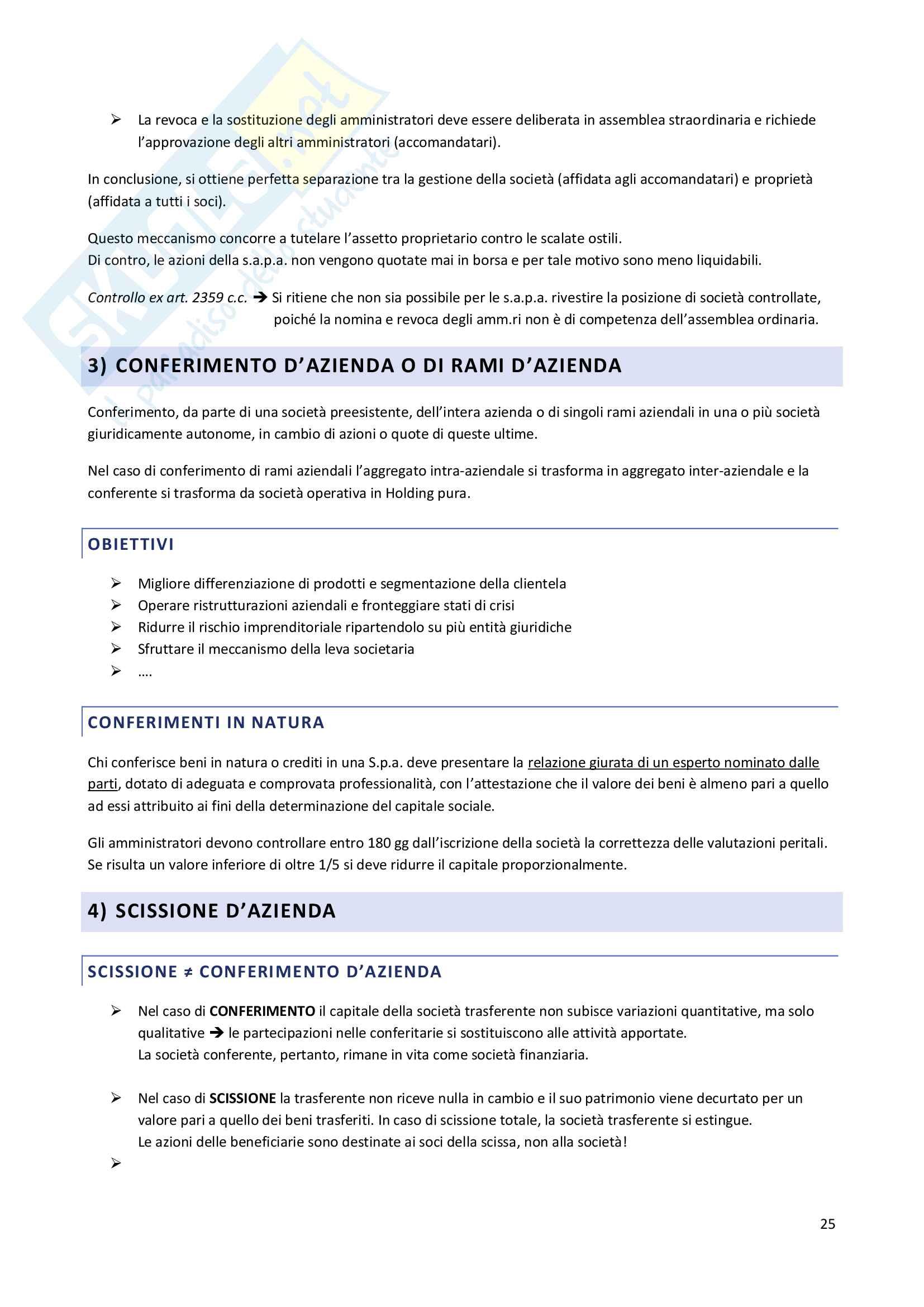 Riassunto esame Economia dei gruppi e delle Concentrazioni Aziendali, prof. Celli Pag. 26