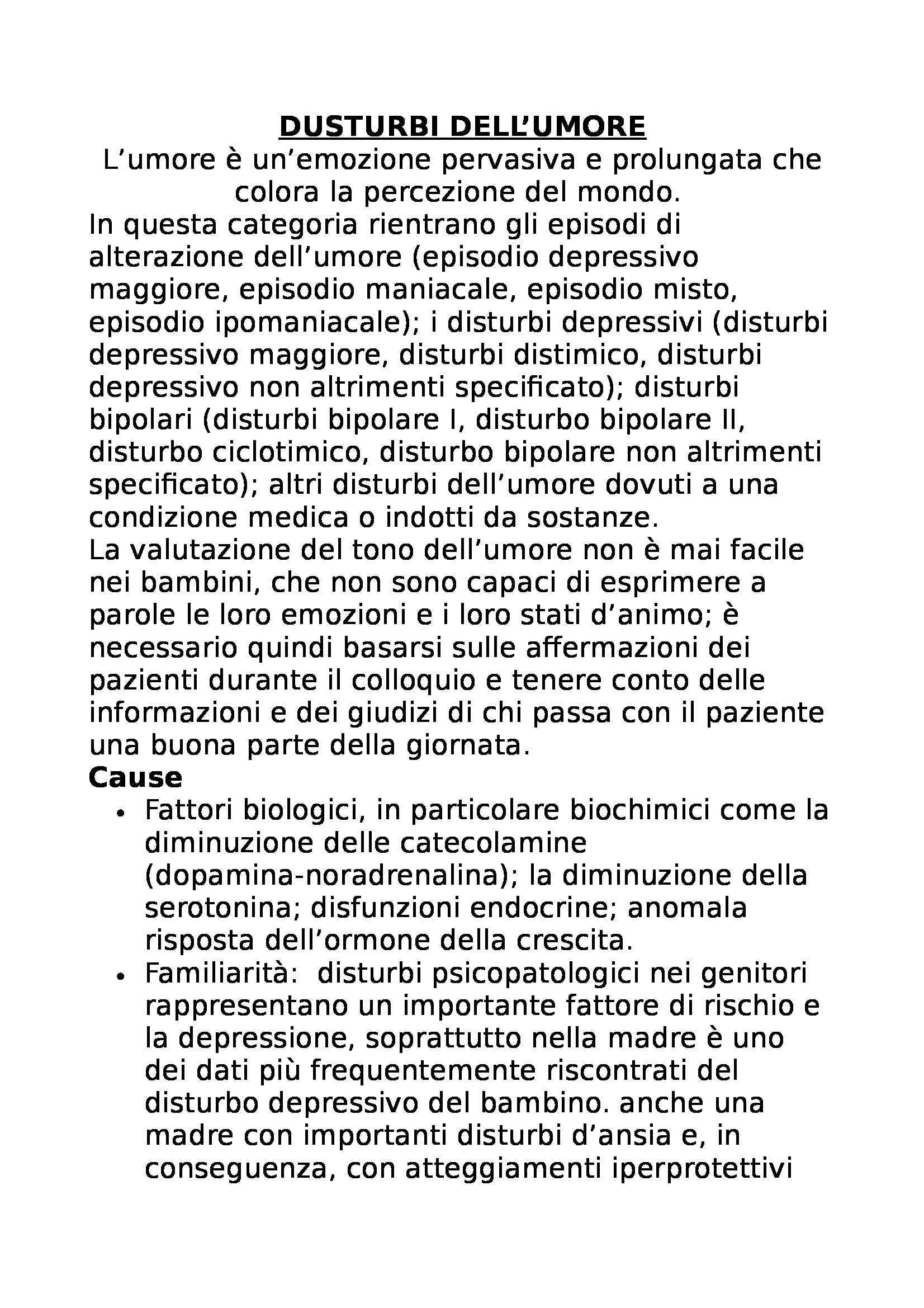 appunto V. Di Mattei Psicopatologia dello sviluppo