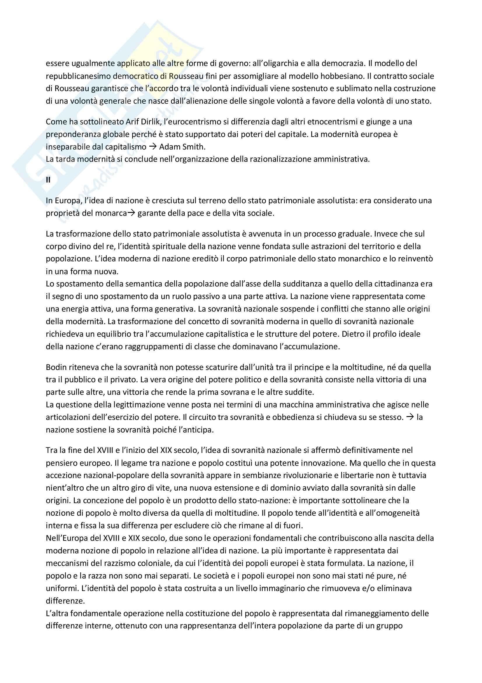 Riassunto esame Sociologia, prof. Congi, libro consigliato Impero, Hard, Negri Pag. 6