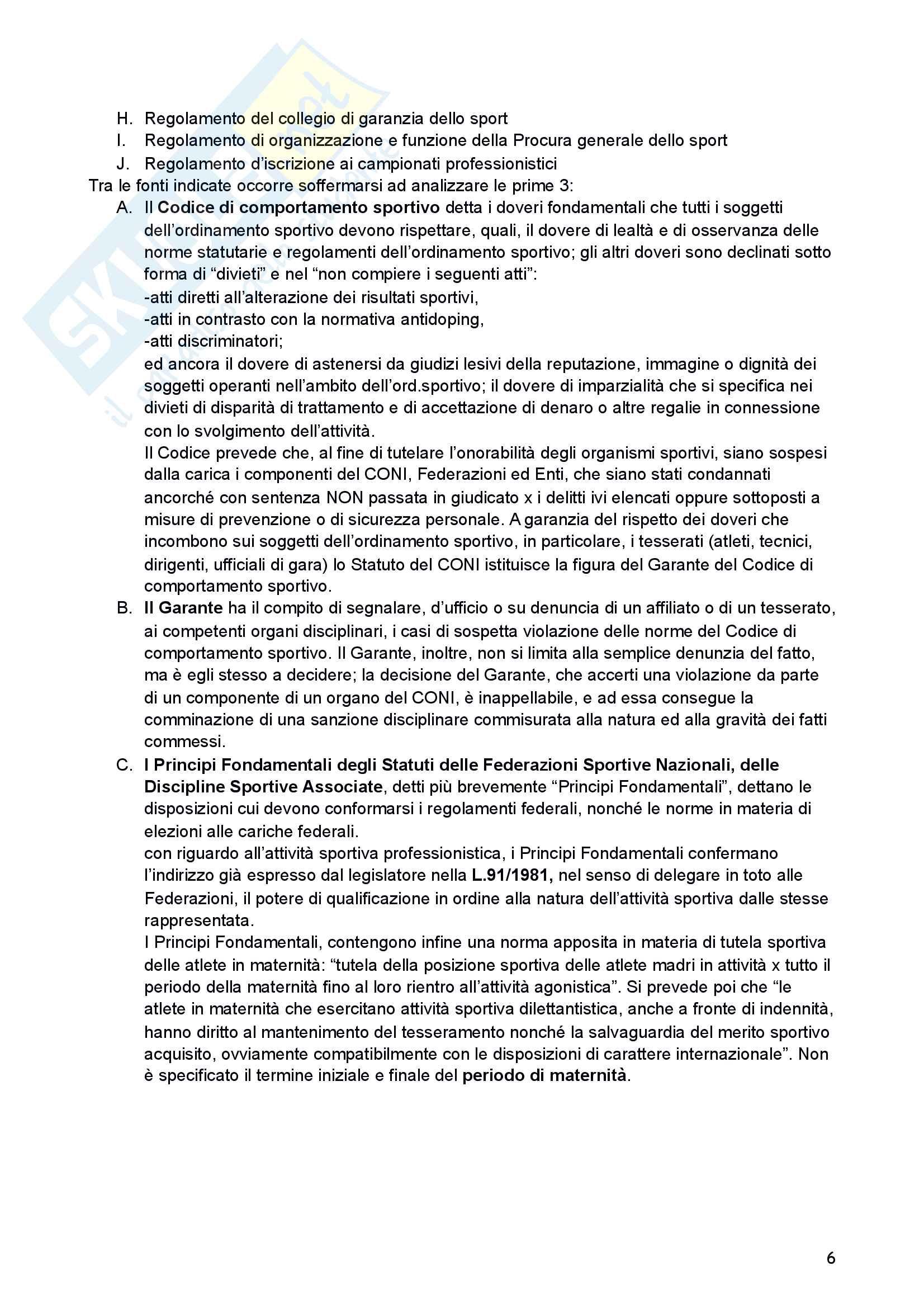 Riassunto esame di Diritto sportivo Pag. 6
