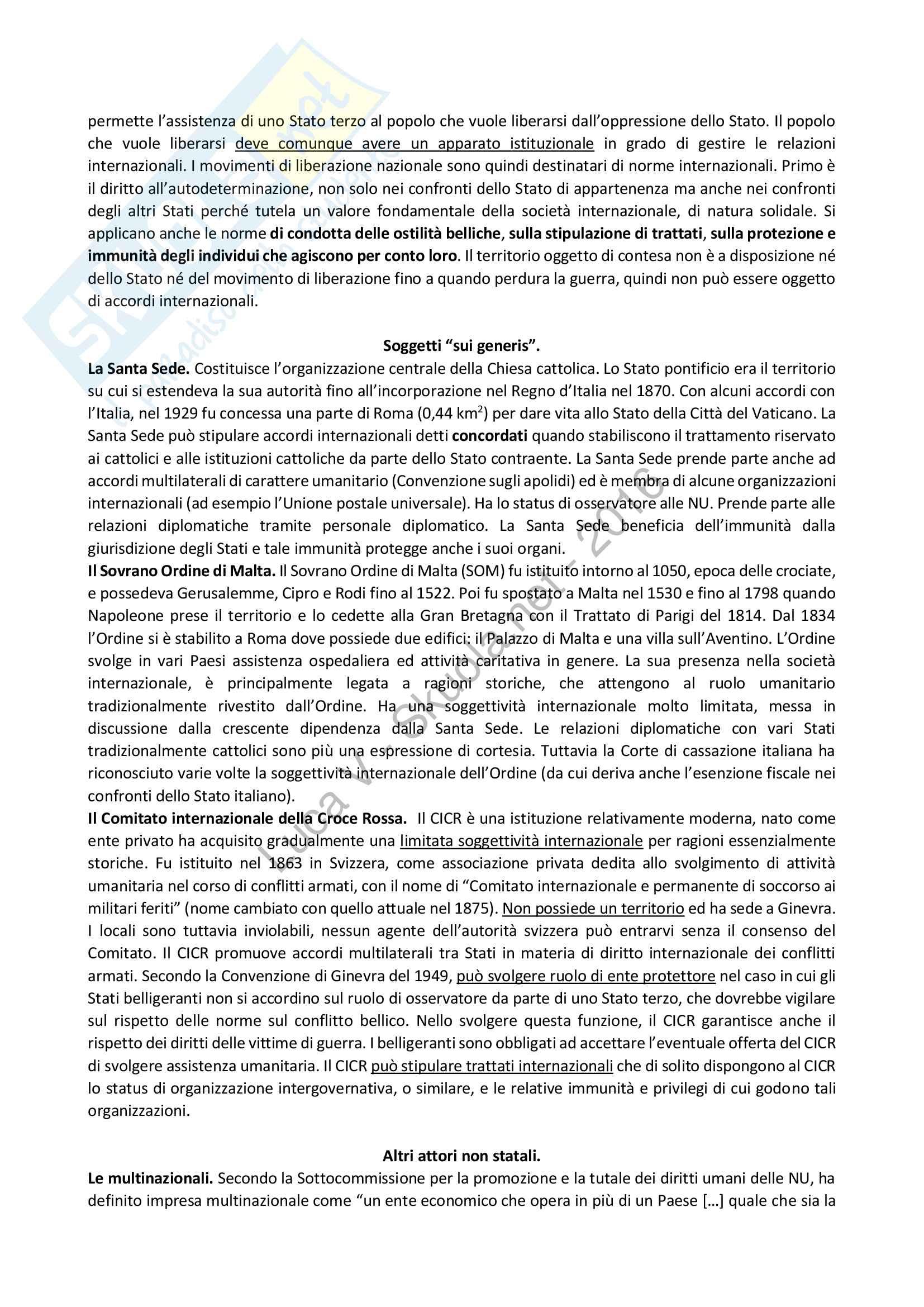 Riassunto esame Diritto Internazionale, libro consigliato Diritto Internazionale, Cassese Pag. 16