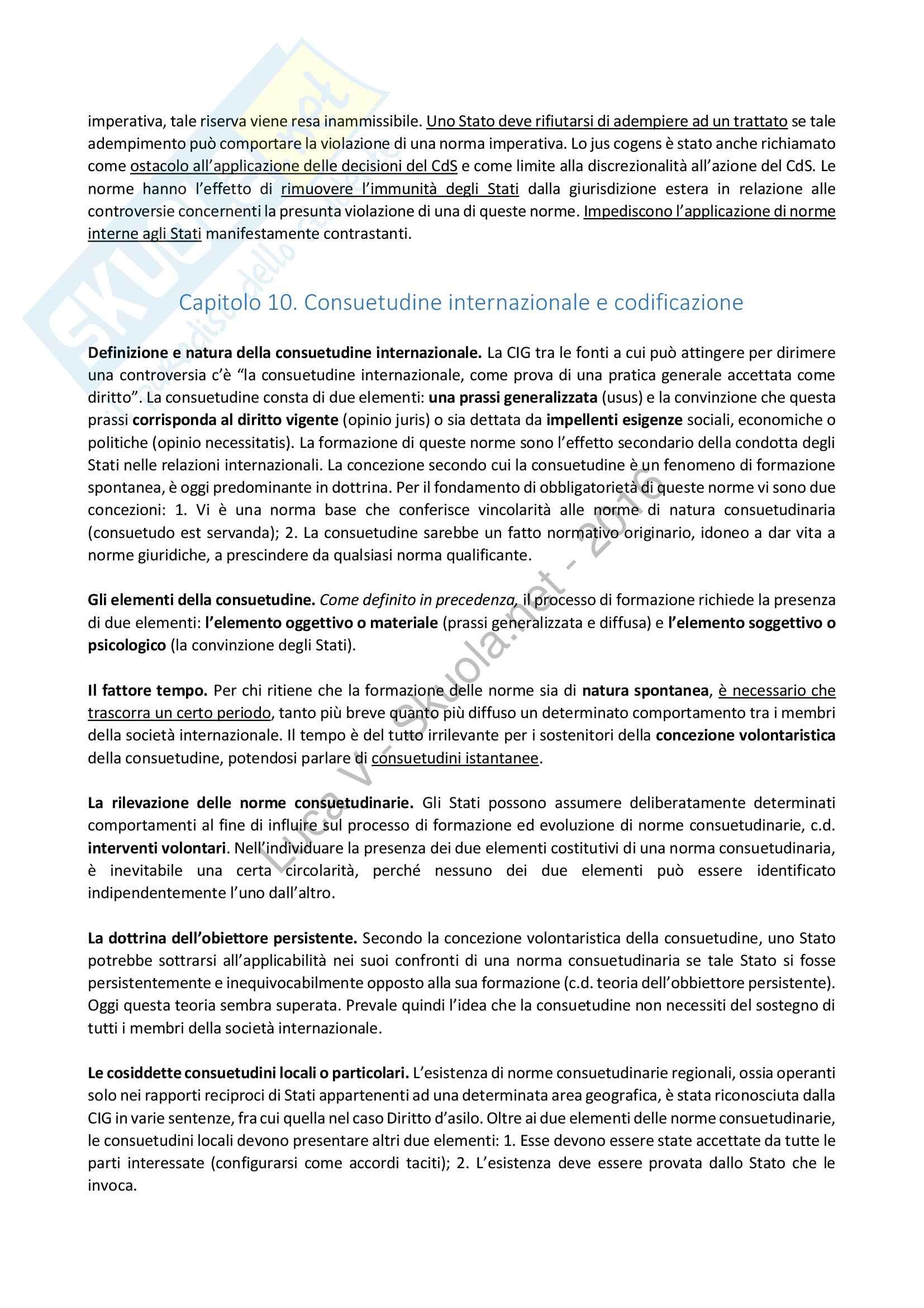 Riassunto esame Diritto Internazionale, libro consigliato Diritto Internazionale, Cassese Pag. 21