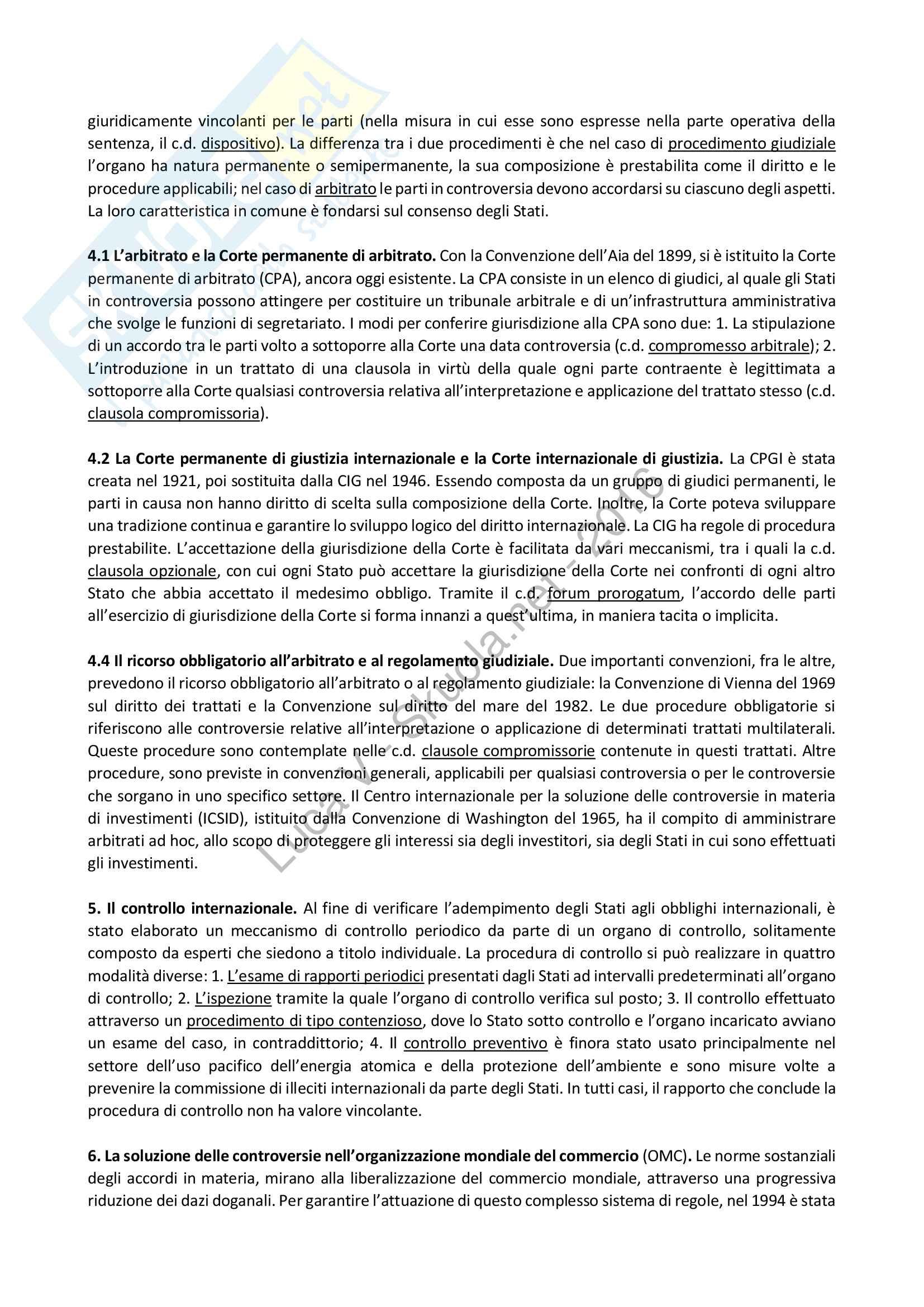 Riassunto esame Diritto Internazionale, libro consigliato Diritto Internazionale, Cassese Pag. 31