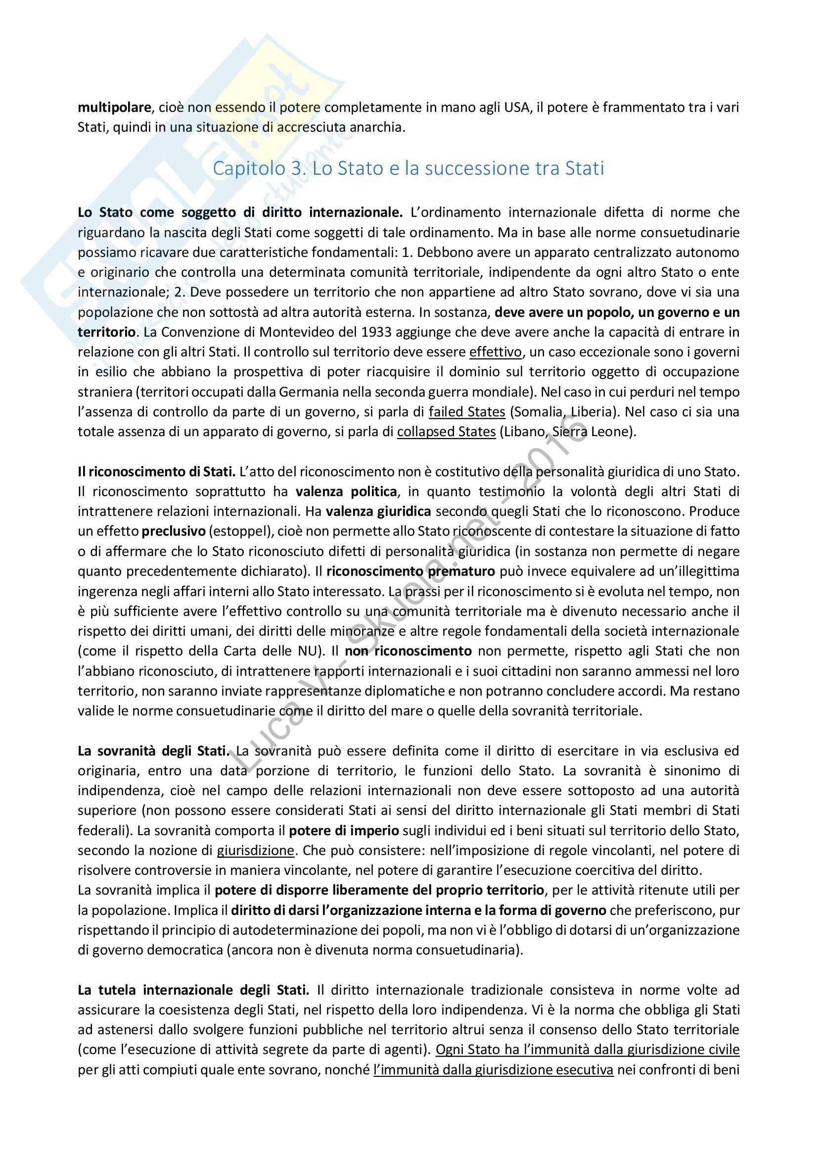 Riassunto esame Diritto Internazionale, libro consigliato Diritto Internazionale, Cassese Pag. 6