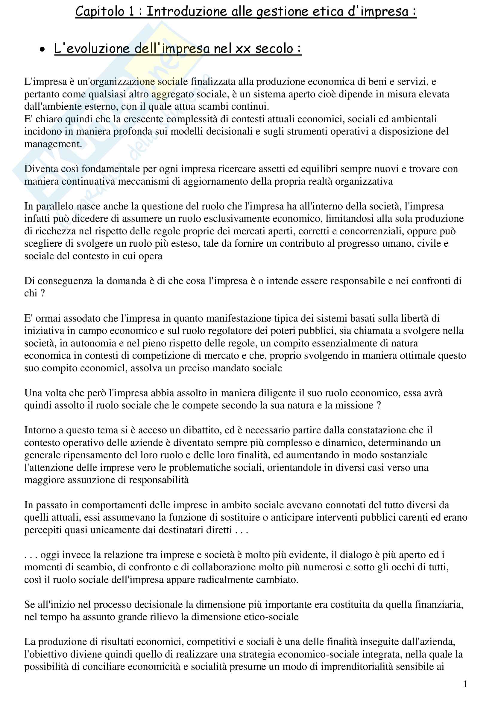 GEI Riassunti Modulo Renzi
