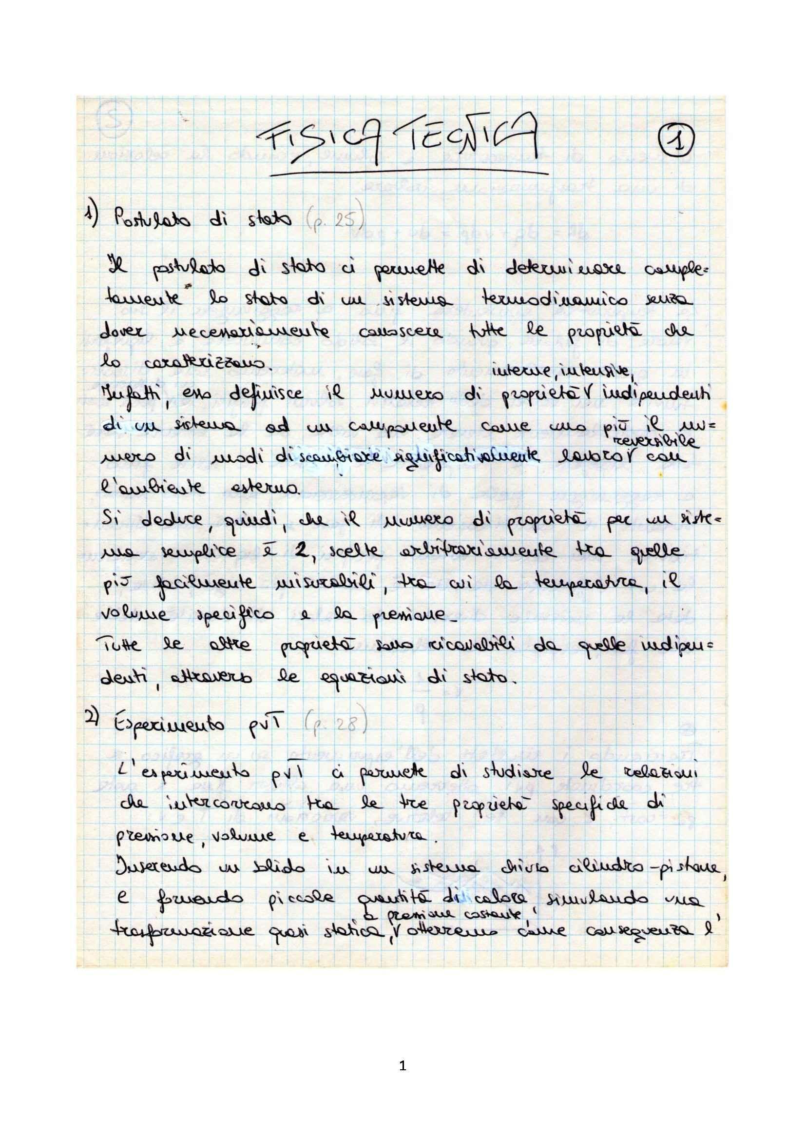 Fisica Tecnica - Schemi riassuntivi del programma completo, prof. Polonara
