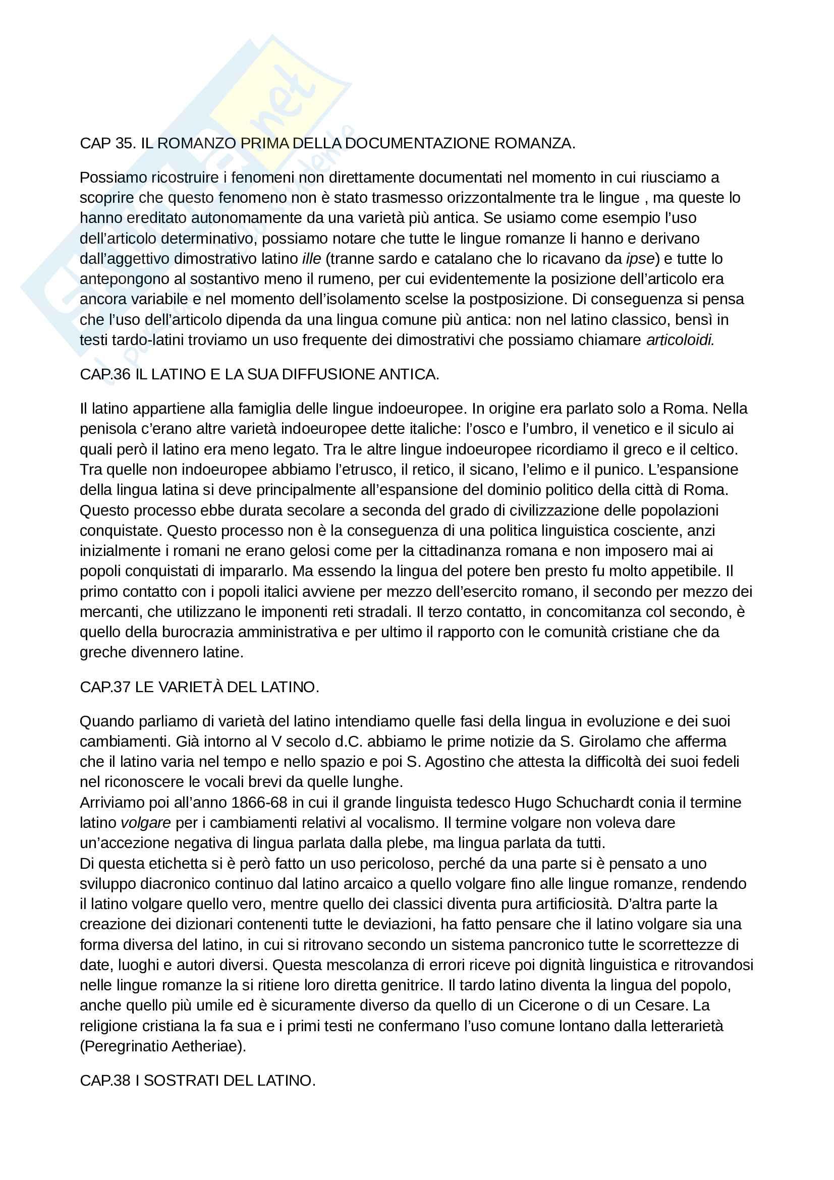 Riassunto esame Fondamenti di filologia e linguistica romanza, prof. Asperti, libro consigliato Linguistica romanza, Varvaro