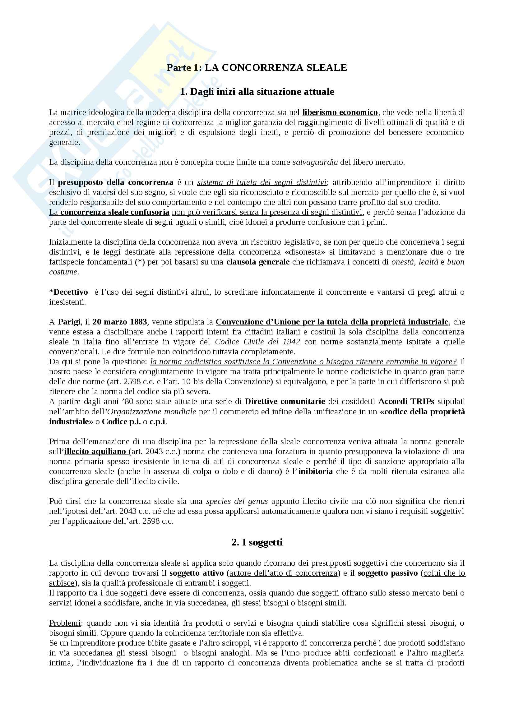 Riassunto esame Diritto, prof. Cavani, libro consigliato Manuale di diritto industriale, Vanzetti, Di Cataldo