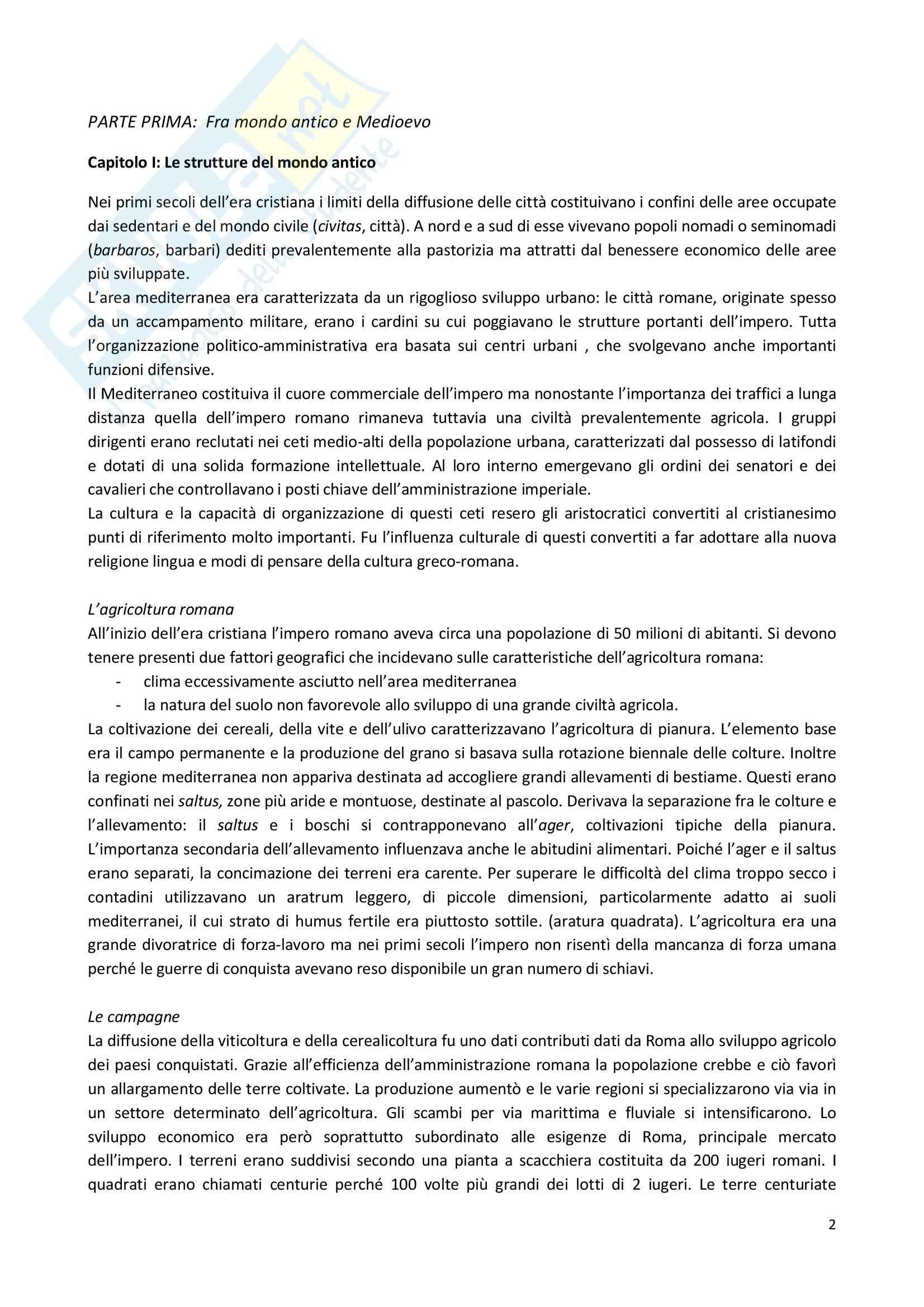 appunto R. Comba Storia Medievale