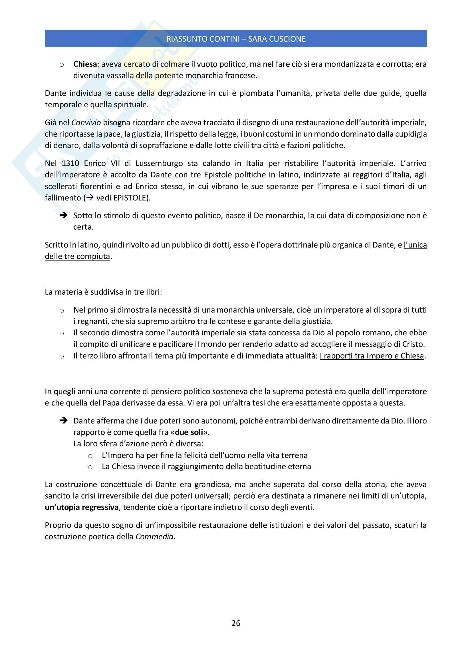 Riassunto esame Letteratura Italiana delle Origini, prof. Giuseppe Frasso, libro consigliato Letteratura italiana delle origini di Gianfranco Contini Pag. 26