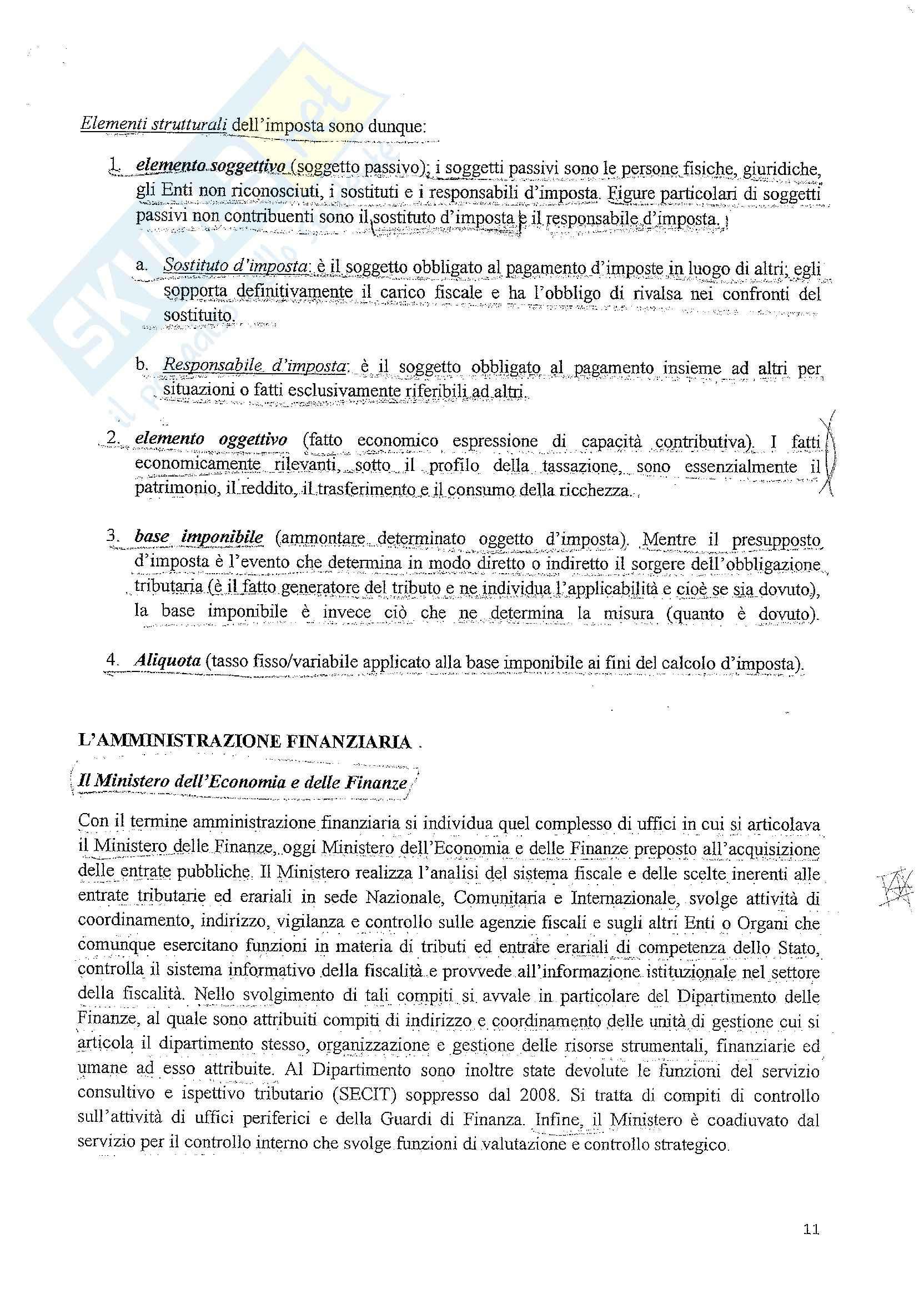 Diritto tributario - le fonti del diritto tributario Pag. 11