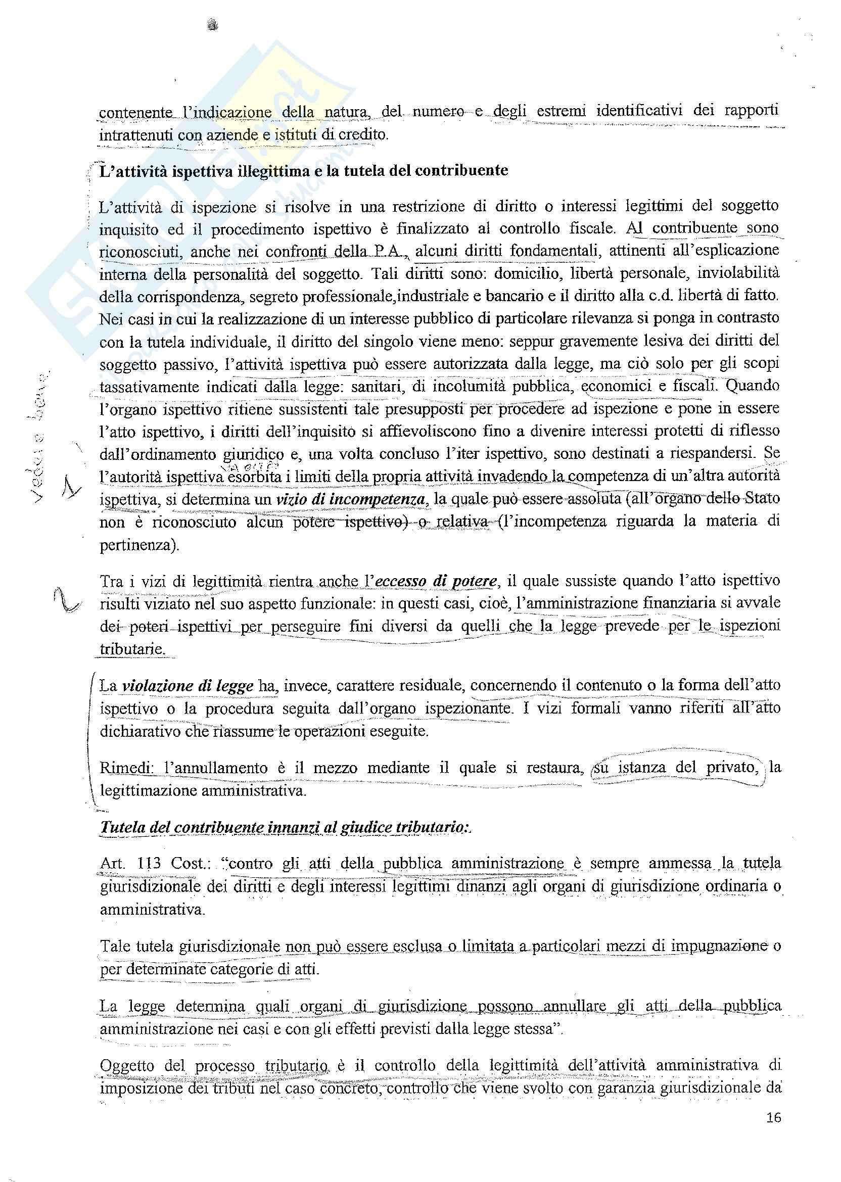 Diritto tributario - le fonti del diritto tributario Pag. 16
