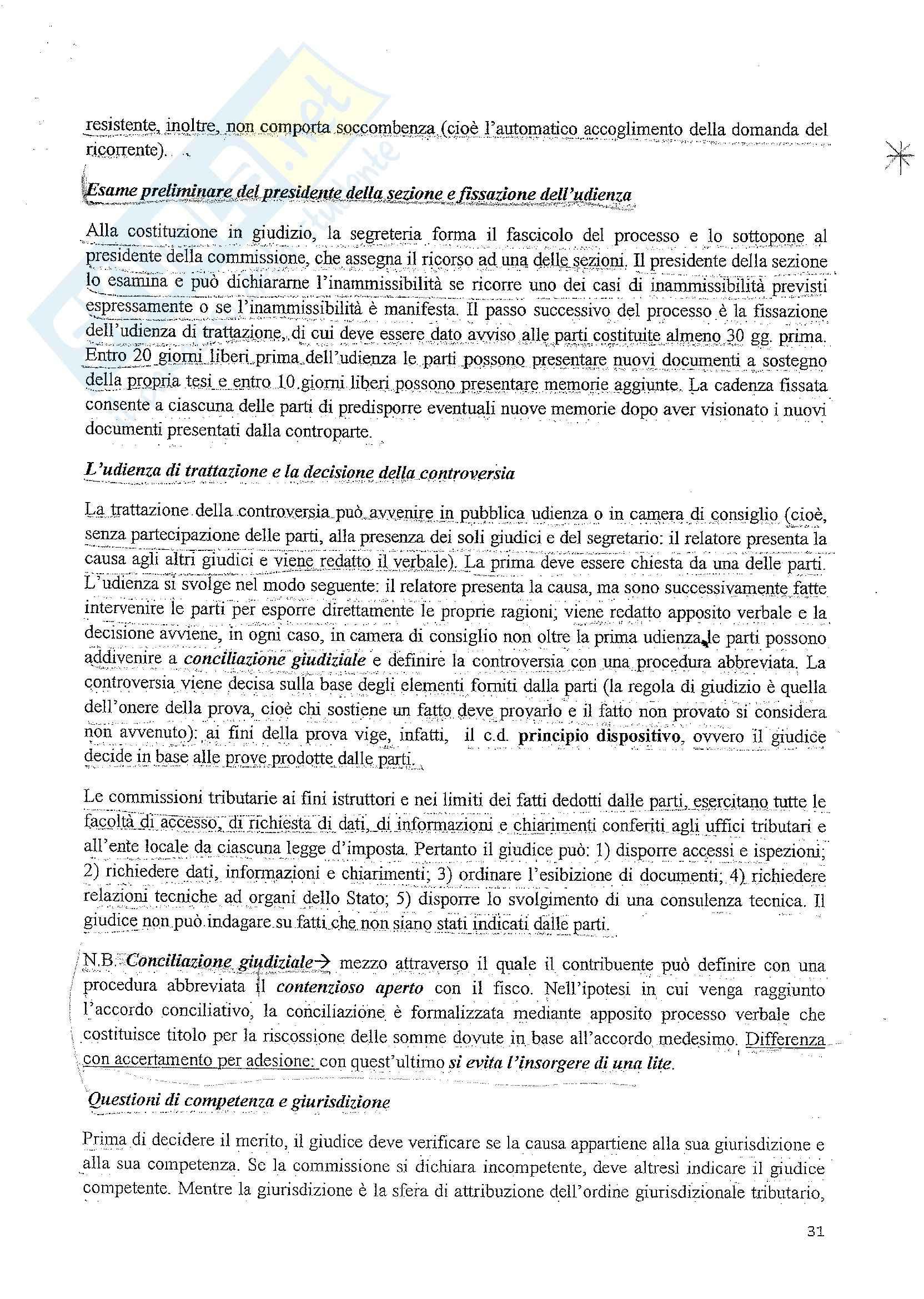 Diritto tributario - le fonti del diritto tributario Pag. 31