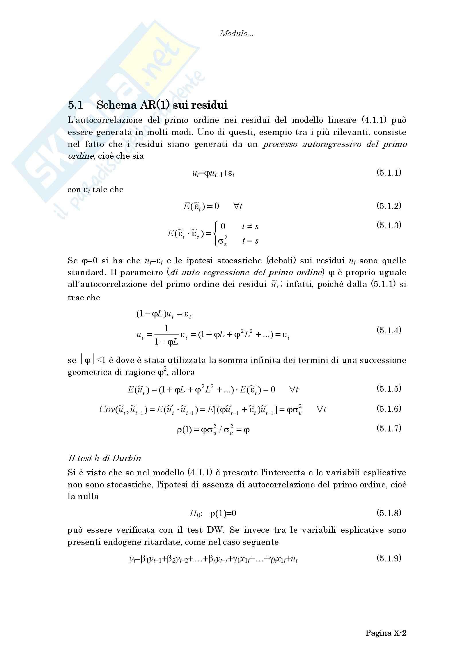 Economia - il modello di regressione Pag. 2