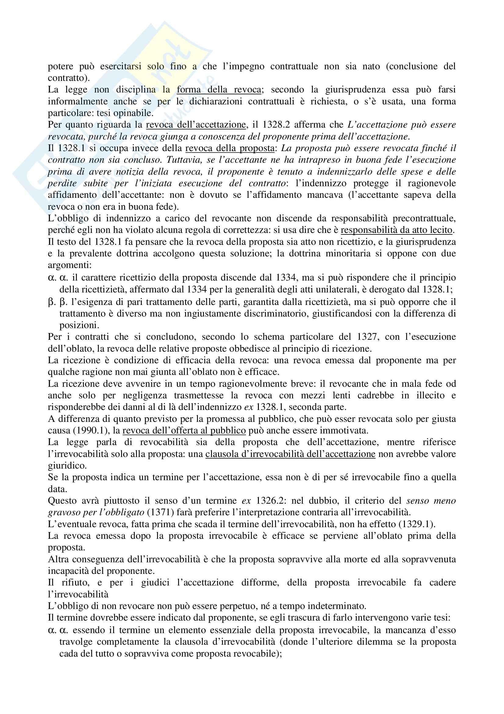 Riassunto esame Diritto Civile, prof. La Rocca, libro consigliato Diritto civile, Roppo: il contratto Pag. 11