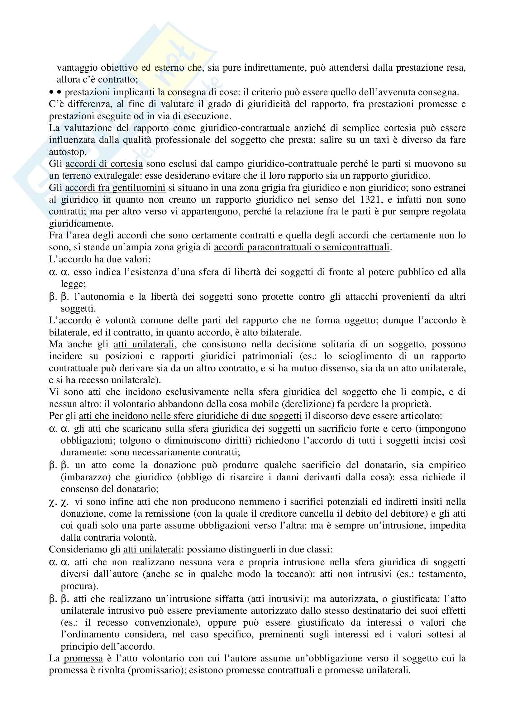 Riassunto esame Diritto Civile, prof. La Rocca, libro consigliato Diritto civile, Roppo: il contratto Pag. 2