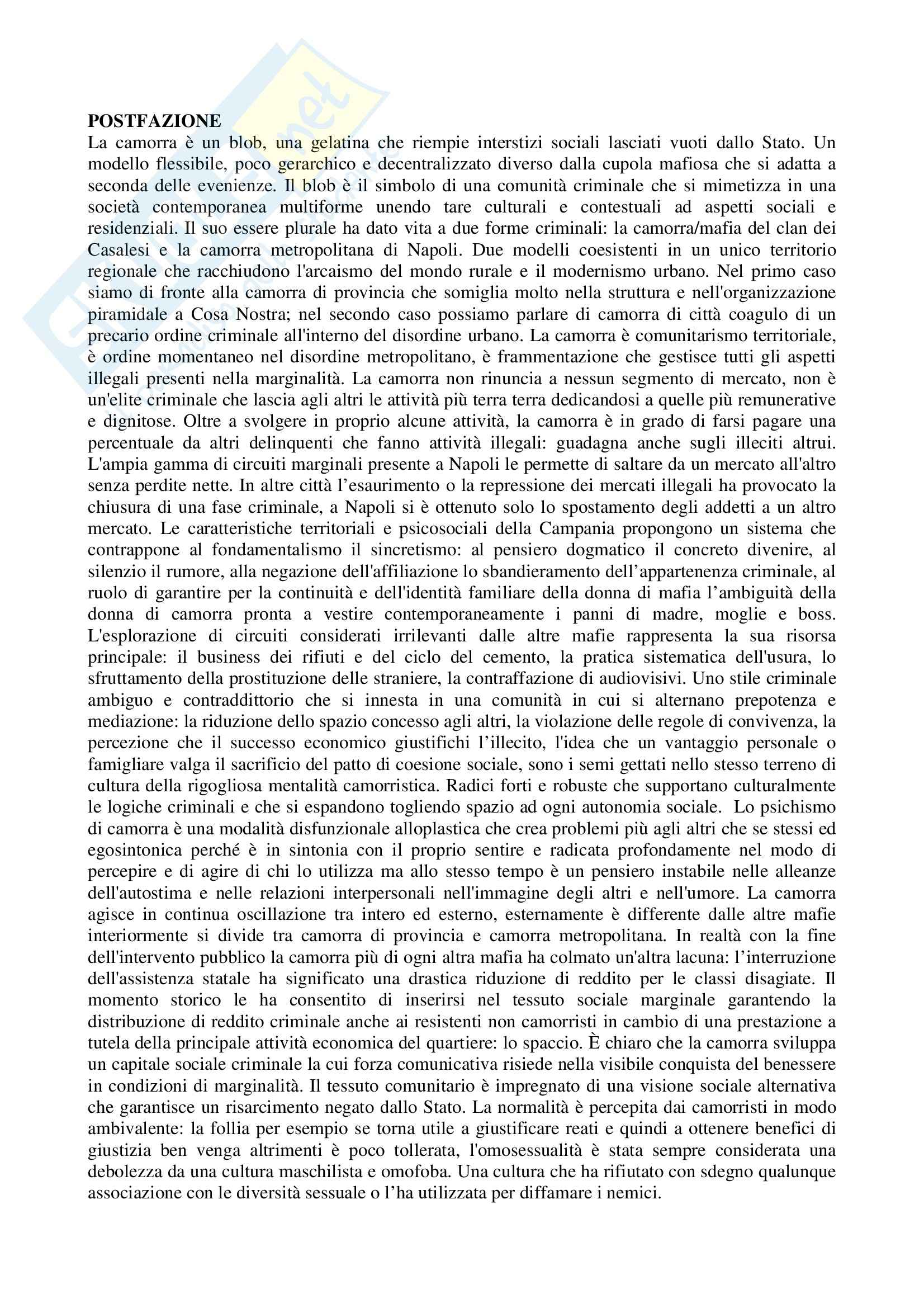 Riassunto esame Psicoterapia Relazionale, prof. Lo Verso, libro consigliato Mafia in Psicoterapia Pag. 16