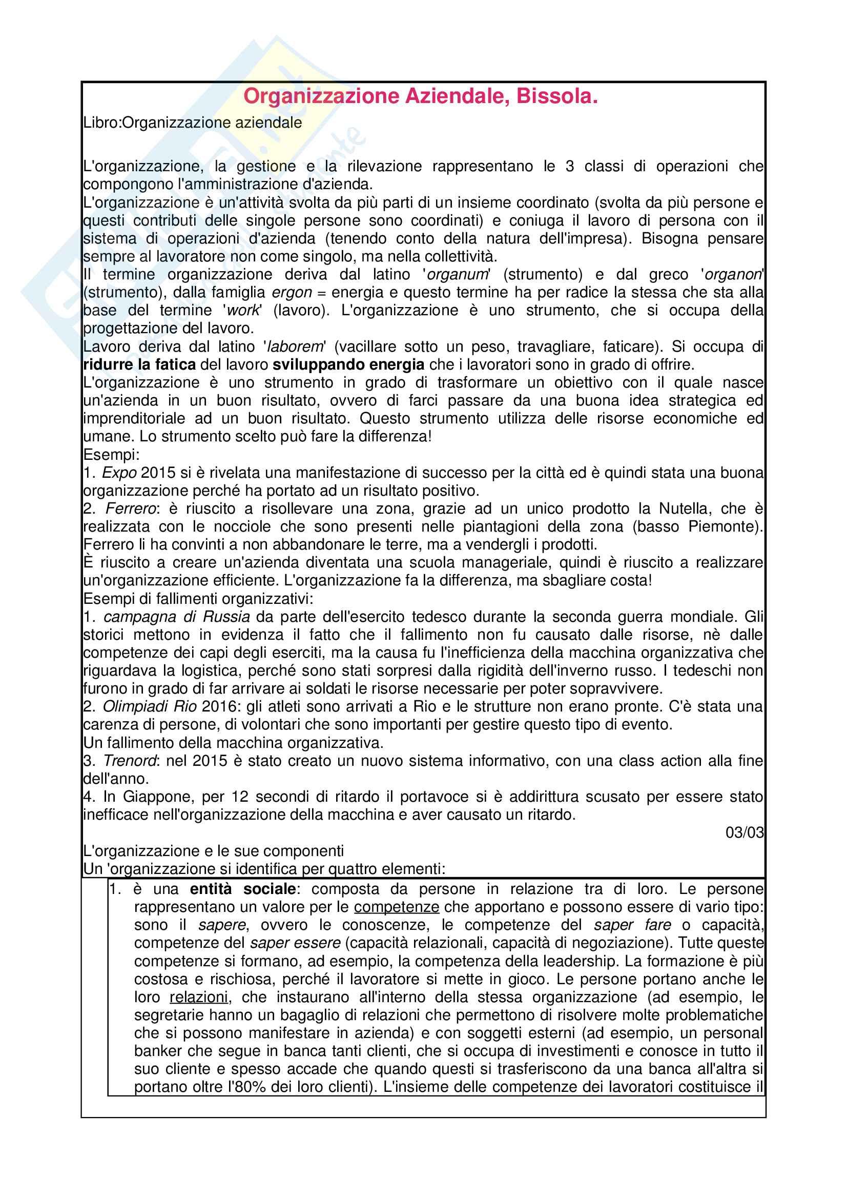 Organizzazione Aziendale, Rita Bissola