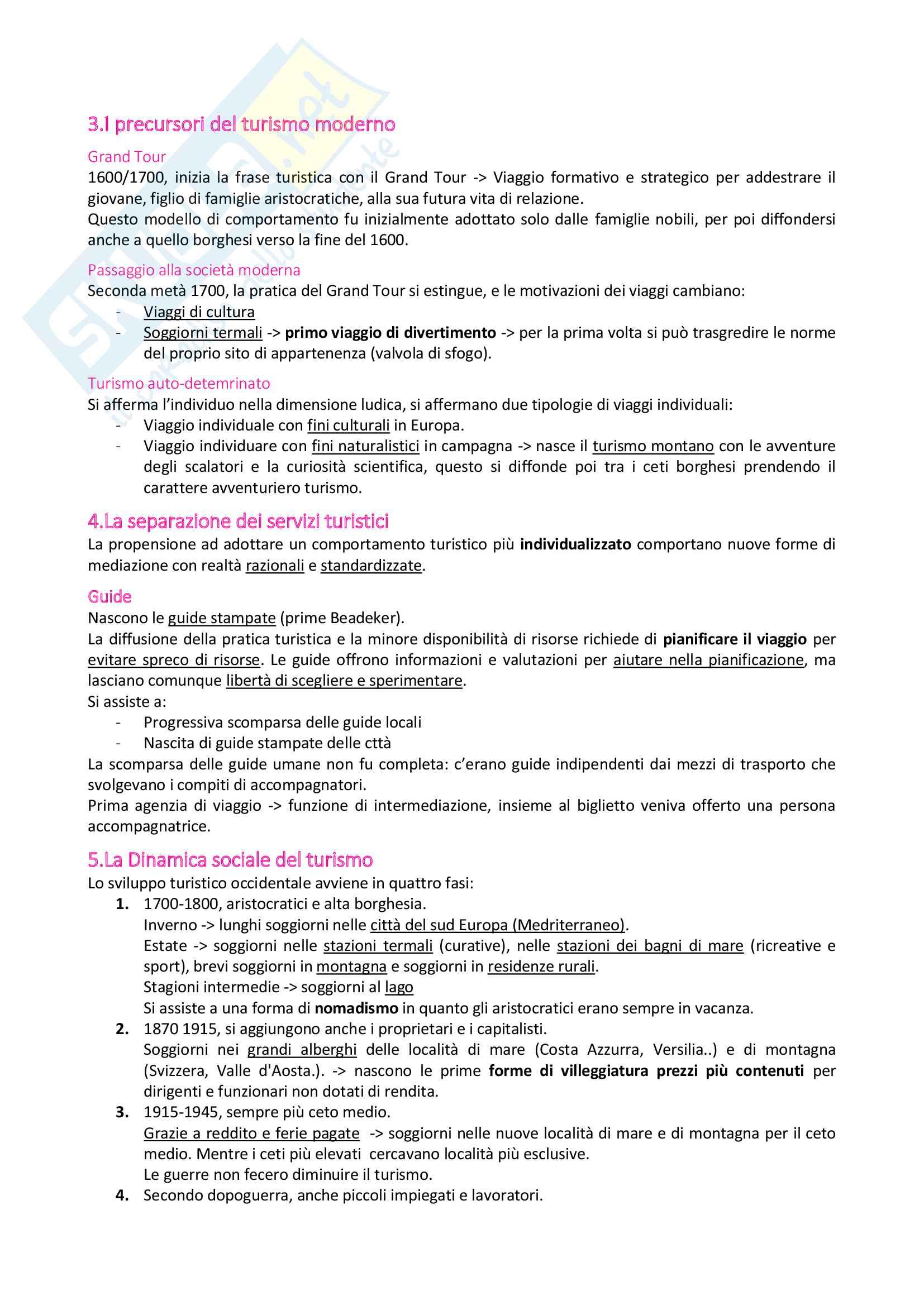 Riassunto Turismo e comunità locale: Modulo Sociologia del Turismo Pag. 26