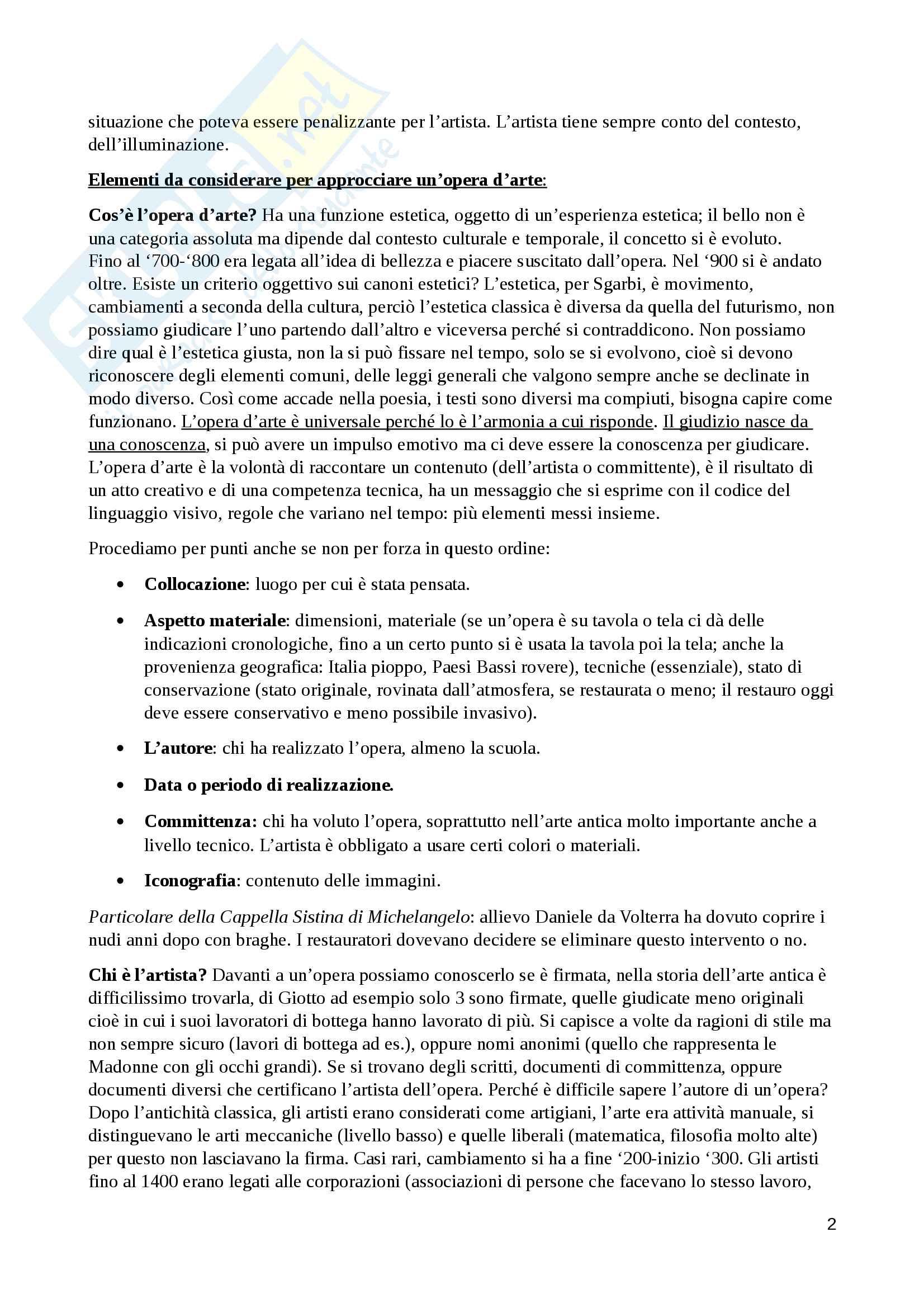 Storia dell'arte (dal paleocristiano al gotico internazionale) - appunti completi Pag. 2