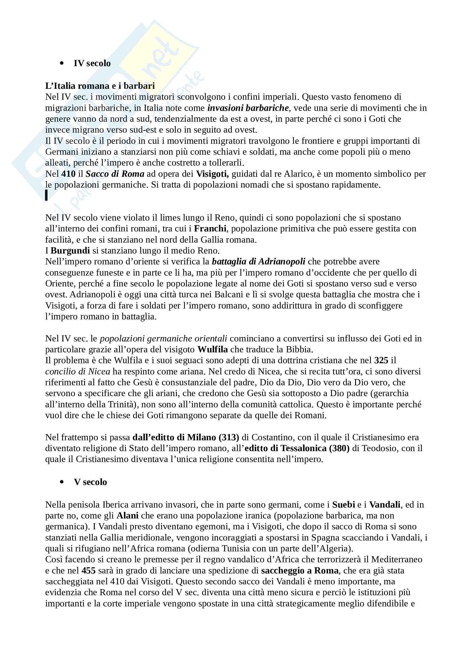 Storia IV - IX secolo - Filologia germanica
