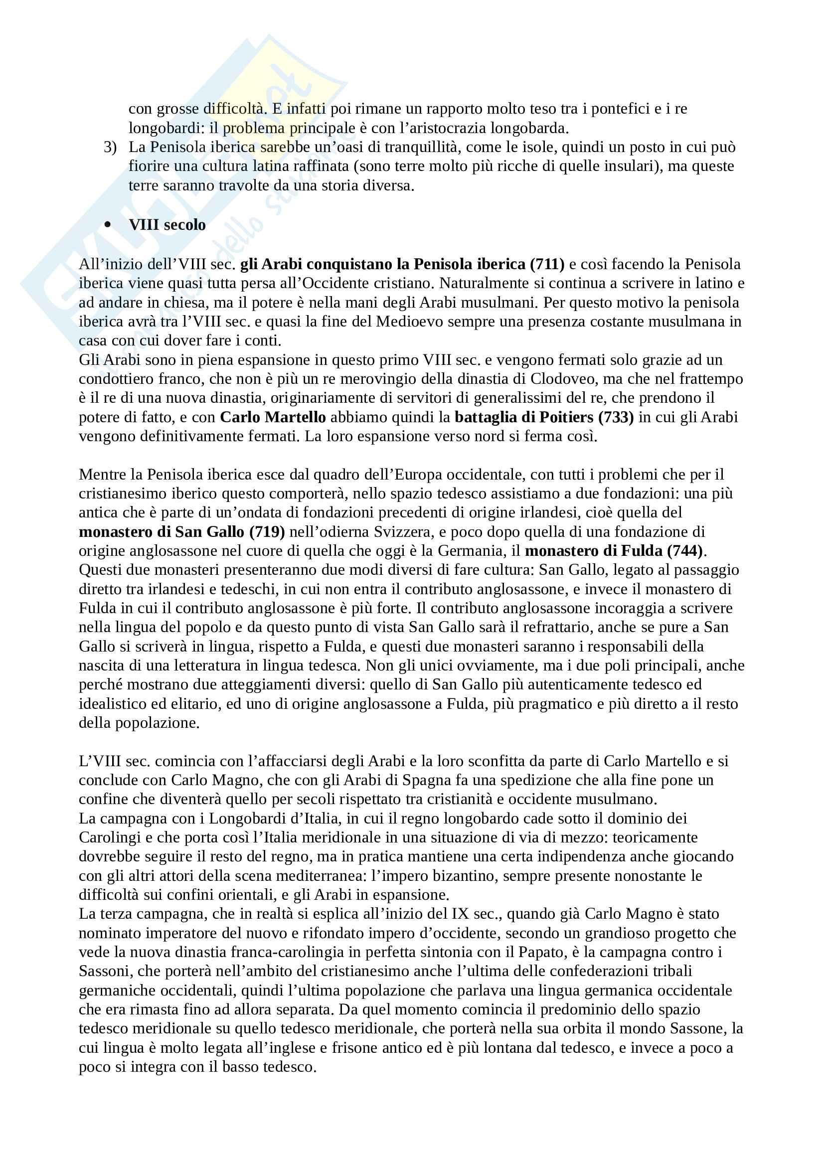 Storia IV - IX secolo - Filologia germanica Pag. 6