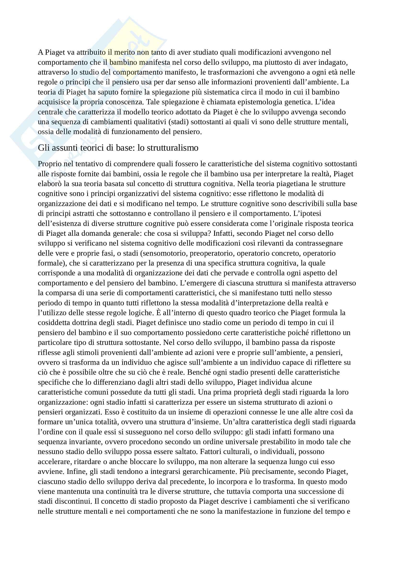 Psicologia dello Sviluppo: Piaget e Vygotskij