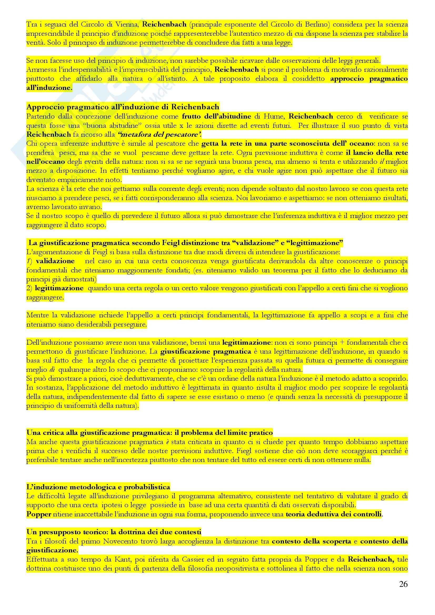 Introduzione alla filosofia della scienza - Riassunto esame, prof. Galavotti Pag. 26