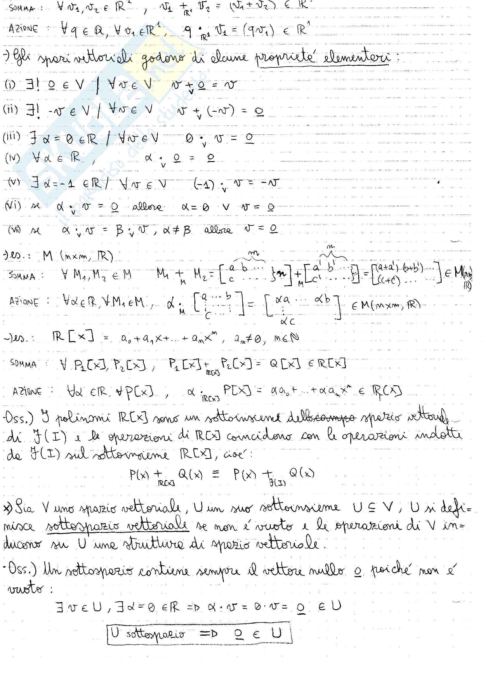 """Appunti di """"Fondamenti di algebra lineare e geometria"""" Pag. 2"""
