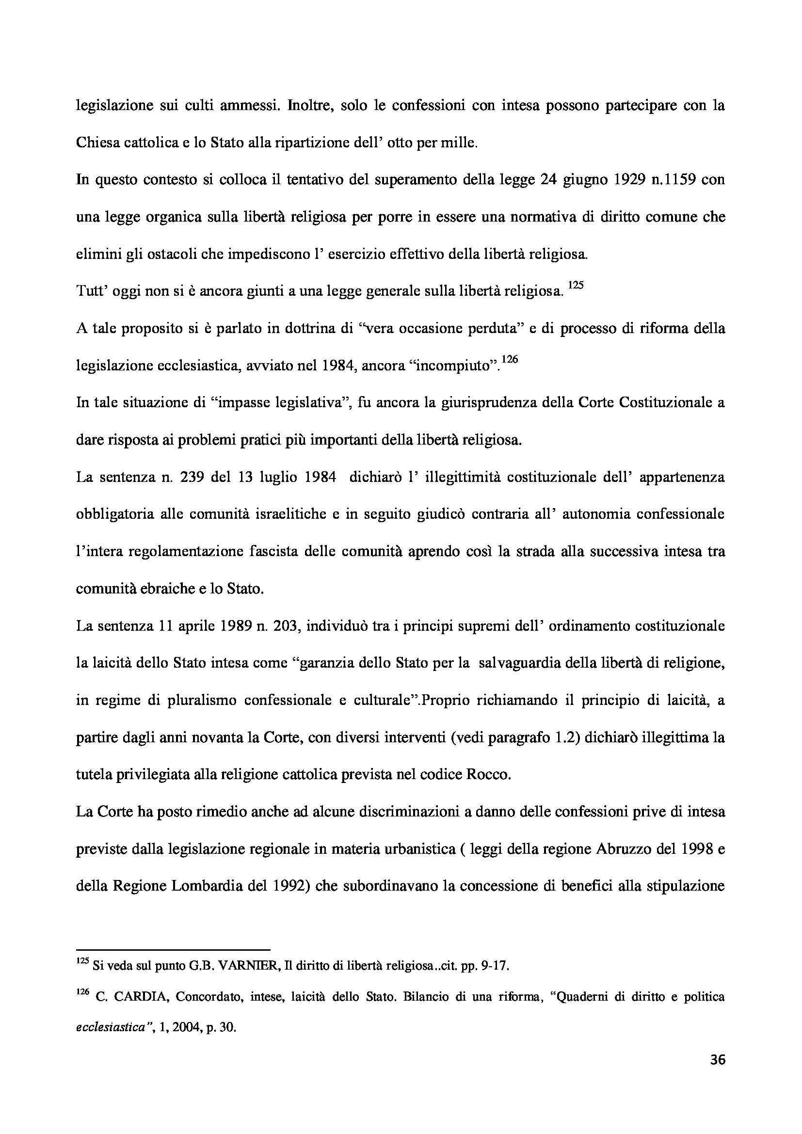 Tesi - Libertà religiosa Pag. 36