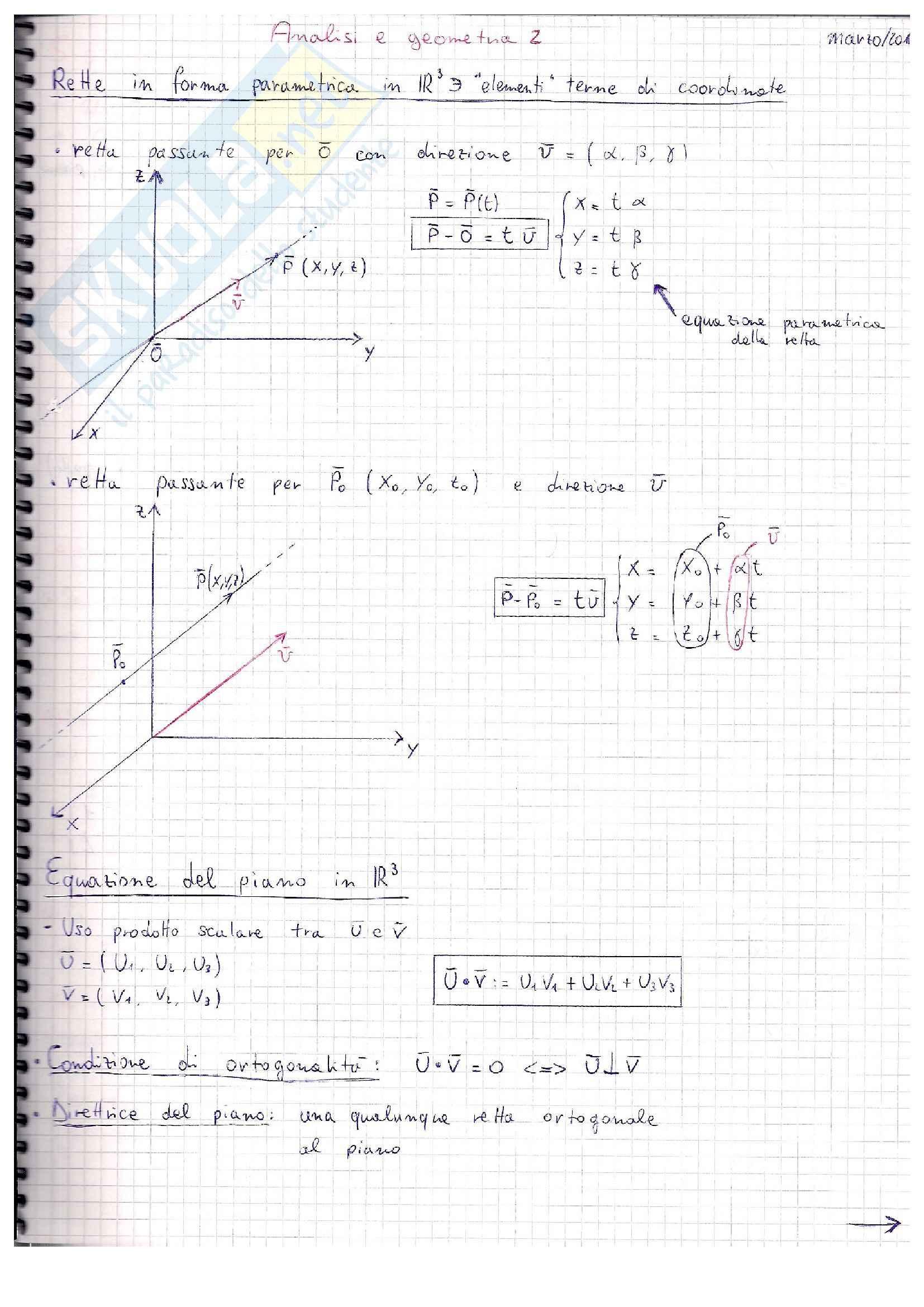Schemi: Appunti di Algebra lineare